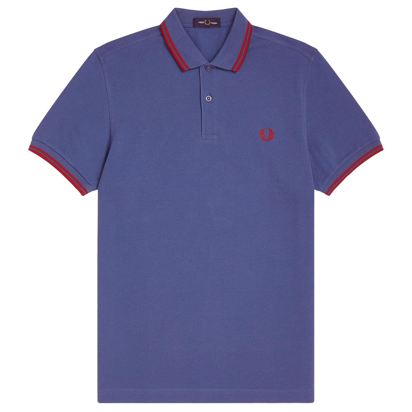 FRED PERRY M3600 Mod Twin Tipped Polo MIDNIGHT