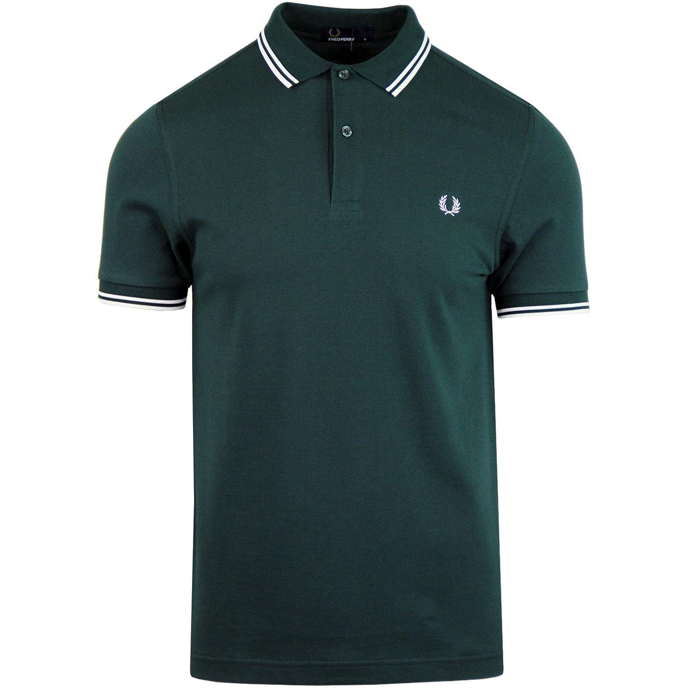 FRED PERRY M3600 Mod Twin Tipped Polo Shirt (Pine)