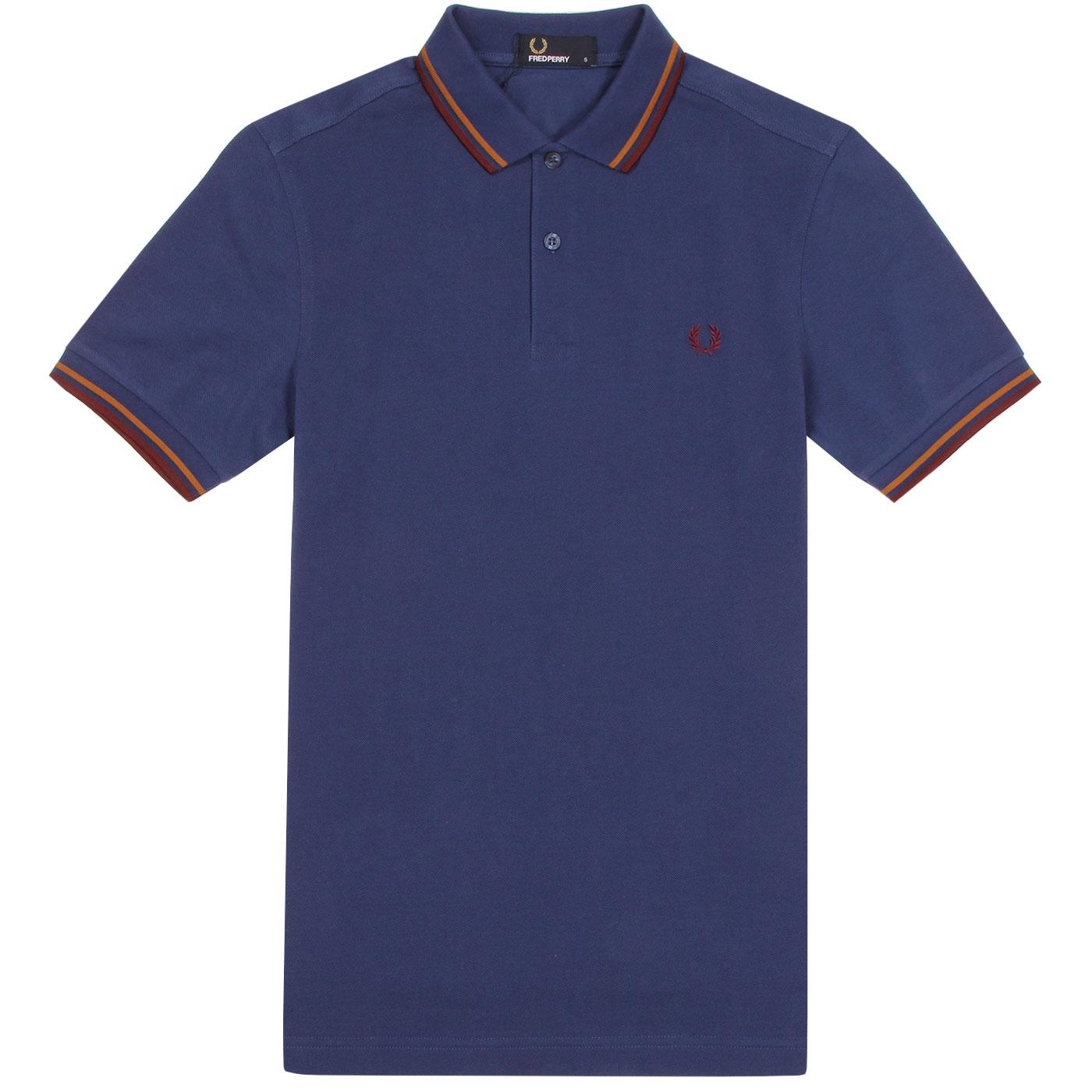 FRED PERRY Men's M3600 Twin Tipped Polo PACIFIC