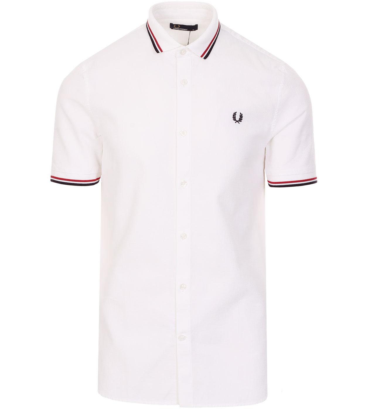 FRED PERRY Twin Tipped Waffle Texture S/S Shirt