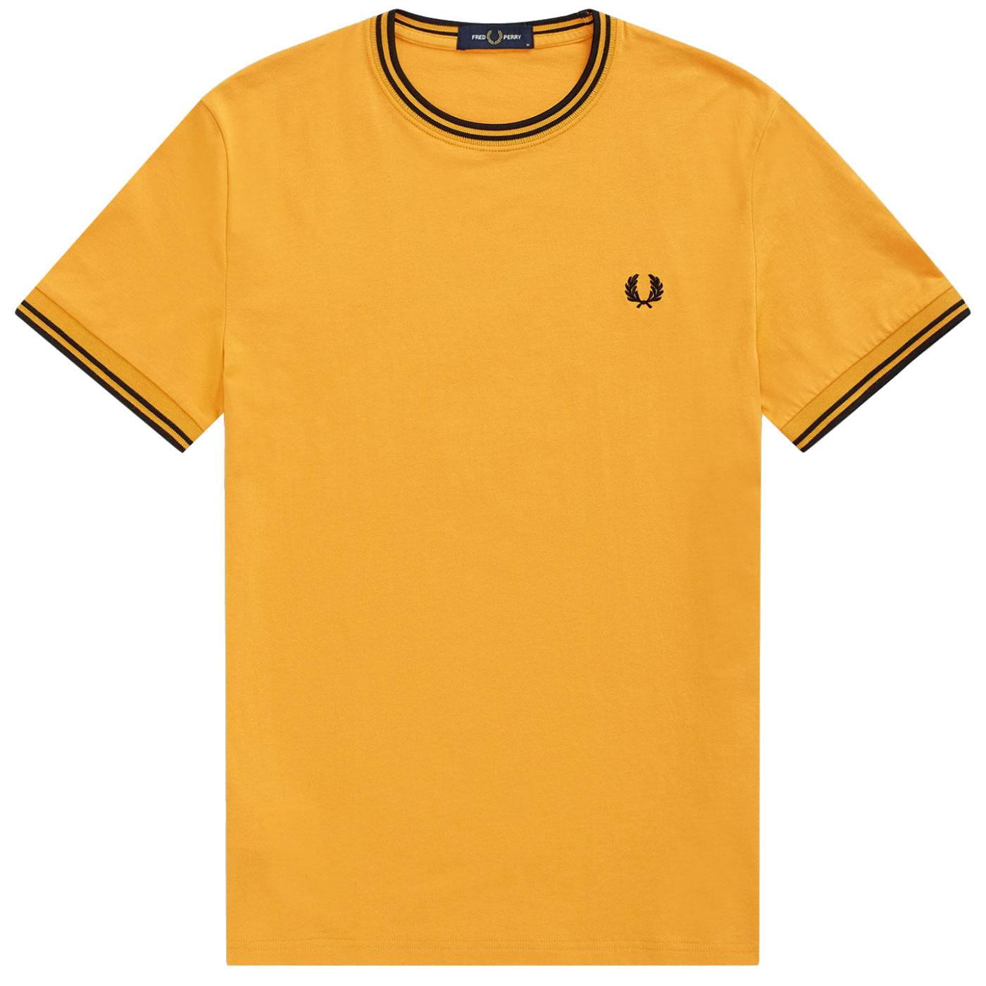 FRED PERRY M1855 Twin Tipped Ringer T-Shirt AMBER