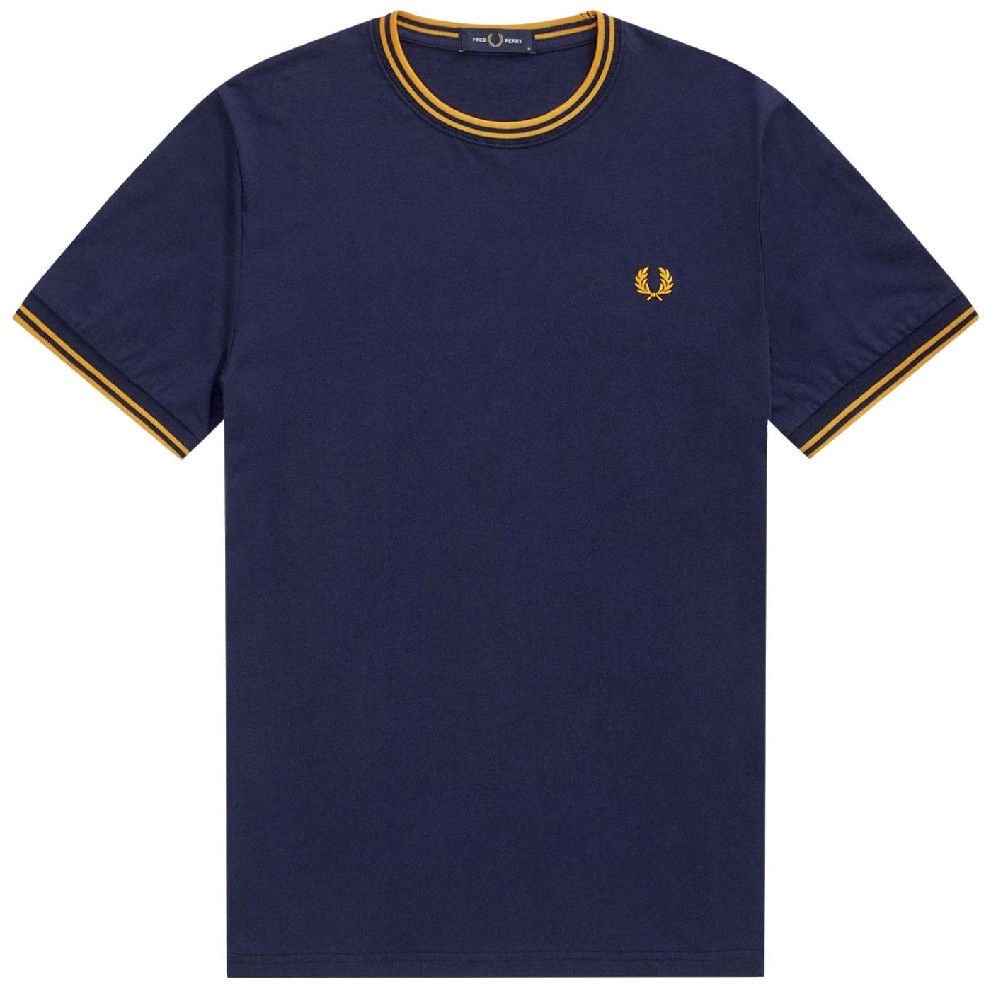 FRED PERRY M1588 Men's Twin Tipped Ringer Tee CB/Y