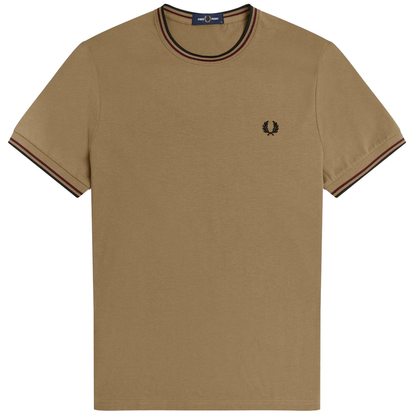 FRED PERRY Twin Tipped Crew Neck T-shirt - Sage