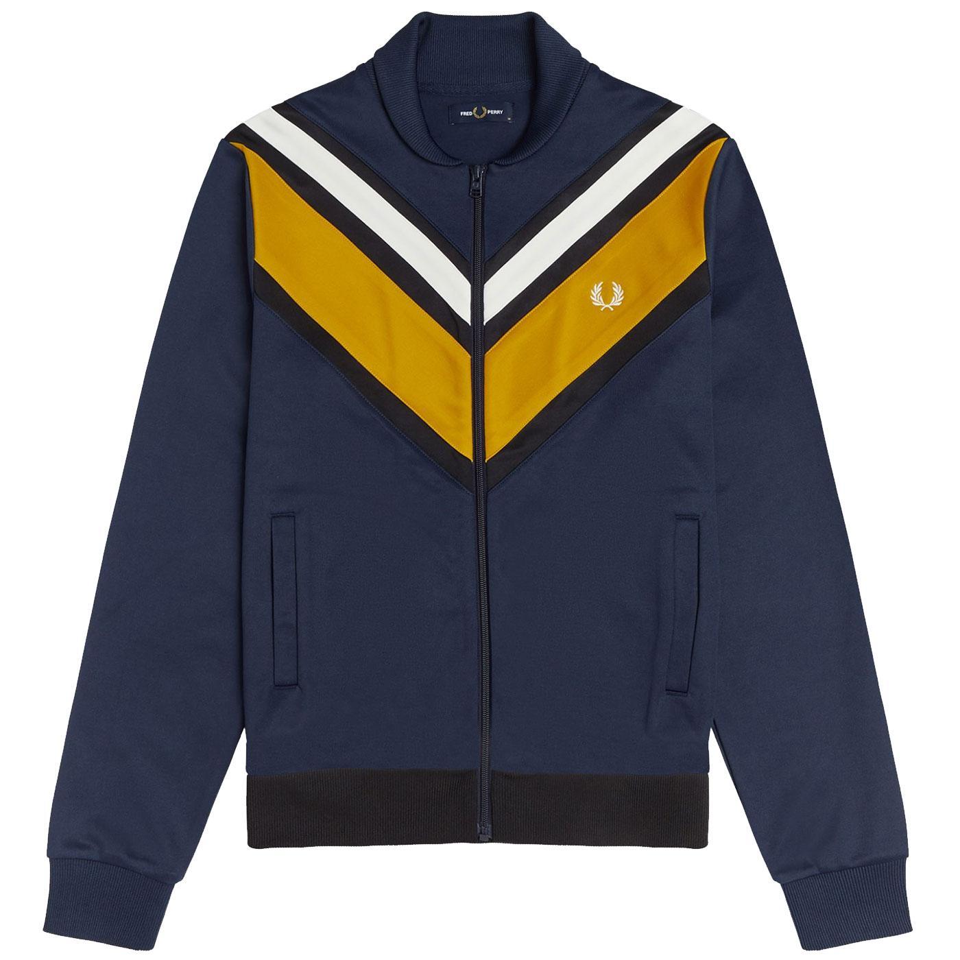 FRED PERRY Retro V-Panel Shawl Collar Track Jacket