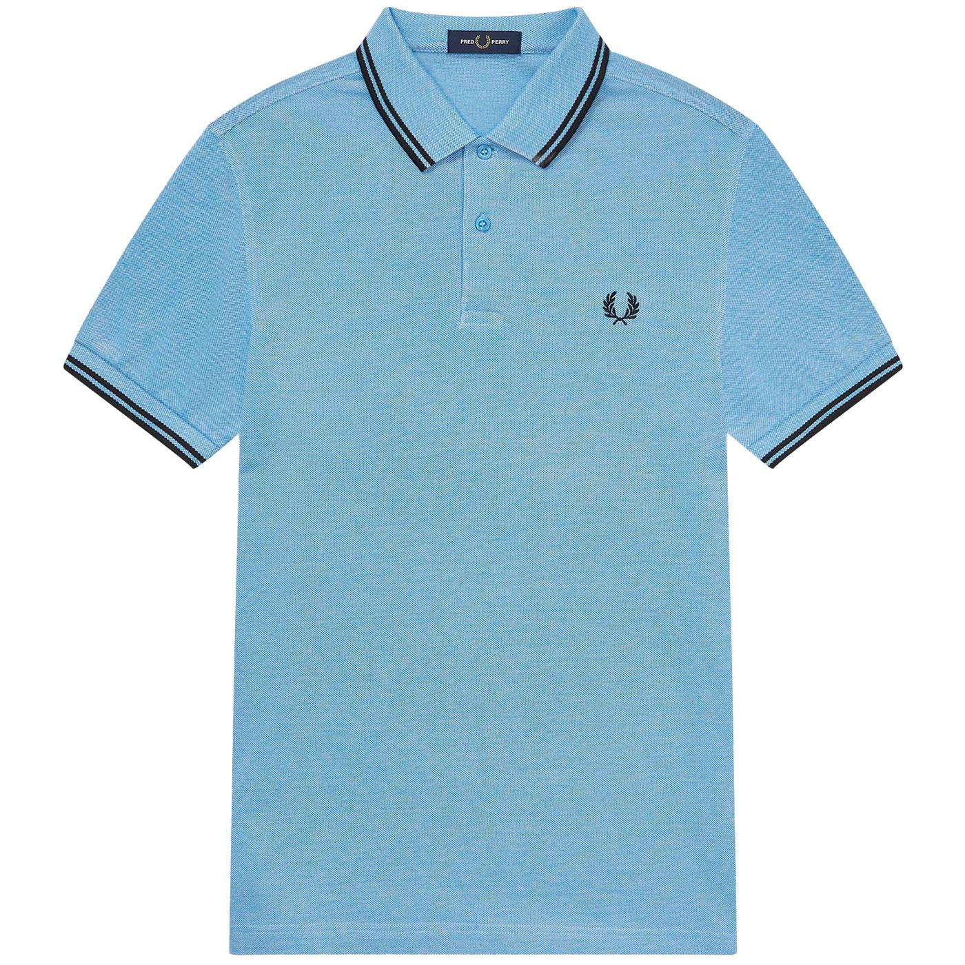 FRED PERRY M3600 Twin Tipped Oxford Polo Top WAVE