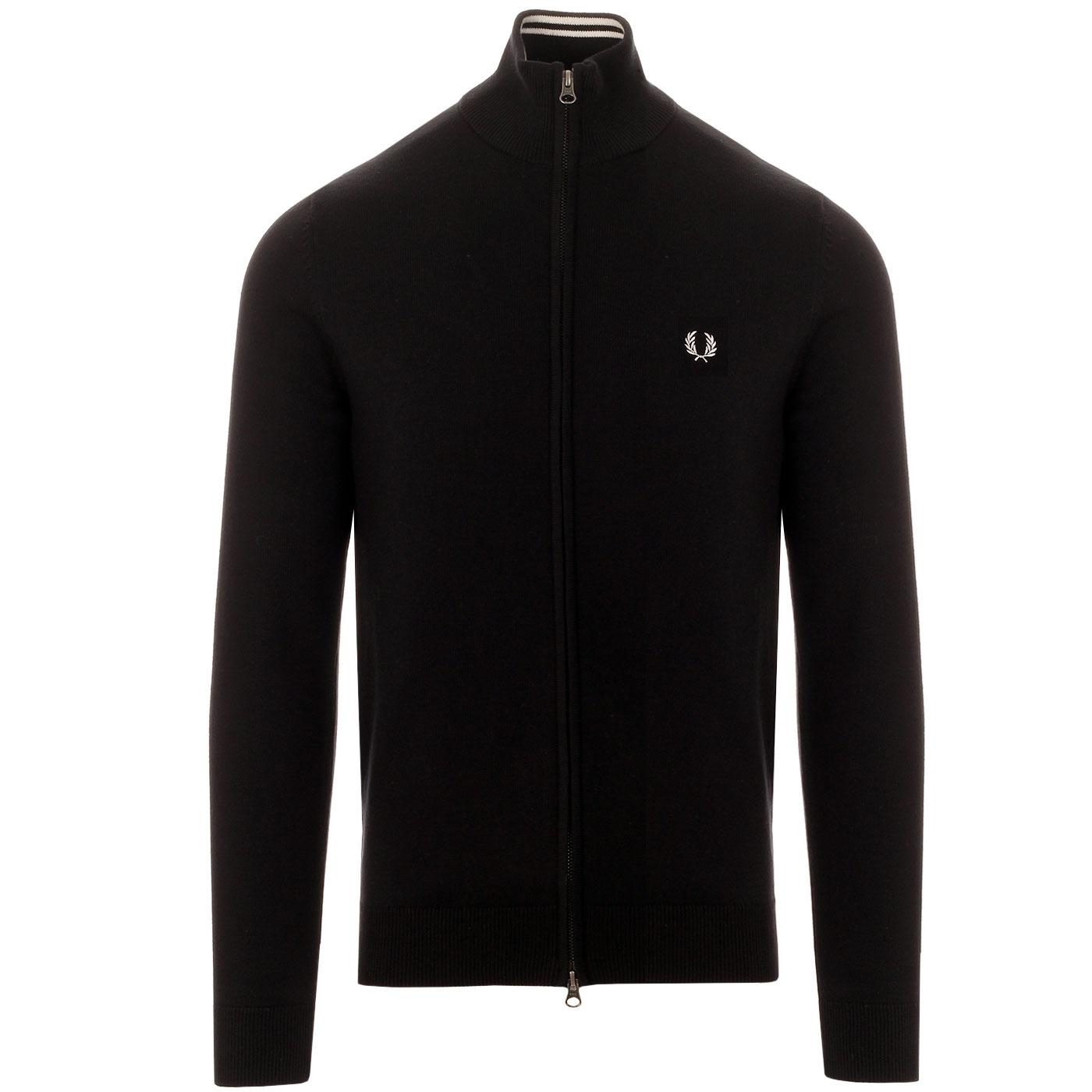 FRED PERRY Knitted Zip Through Tipped Track Top