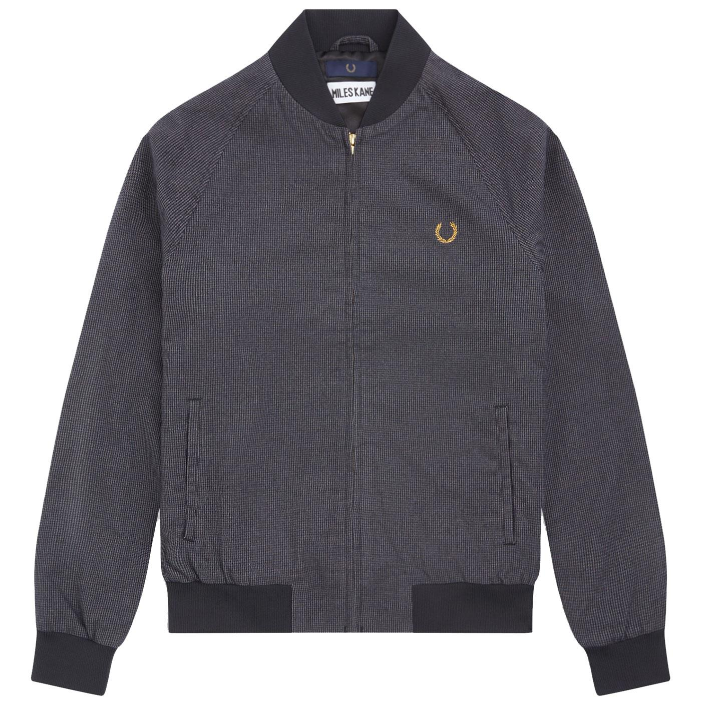 FRED PERRY X MILES KANE Mod Dogtooth Bomber Jacket
