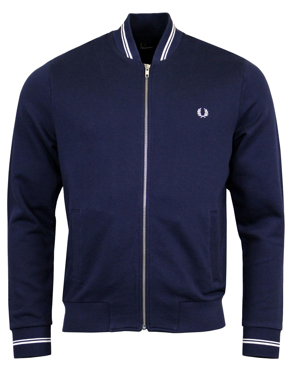 FRED PERRY J2598 Bomber Carbon Blue