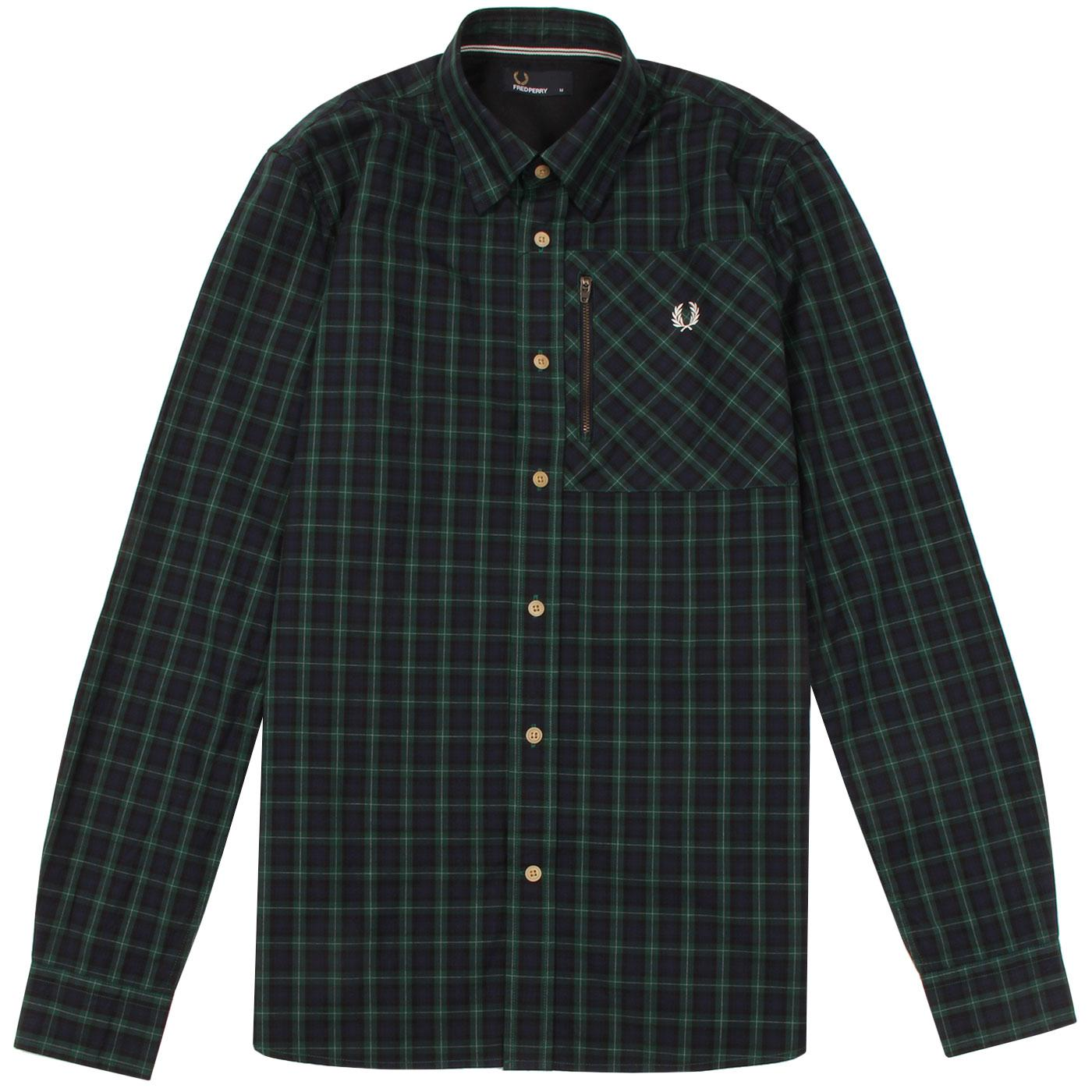 FRED PERRY Men's Retro Lamont Tartan Check Shirt