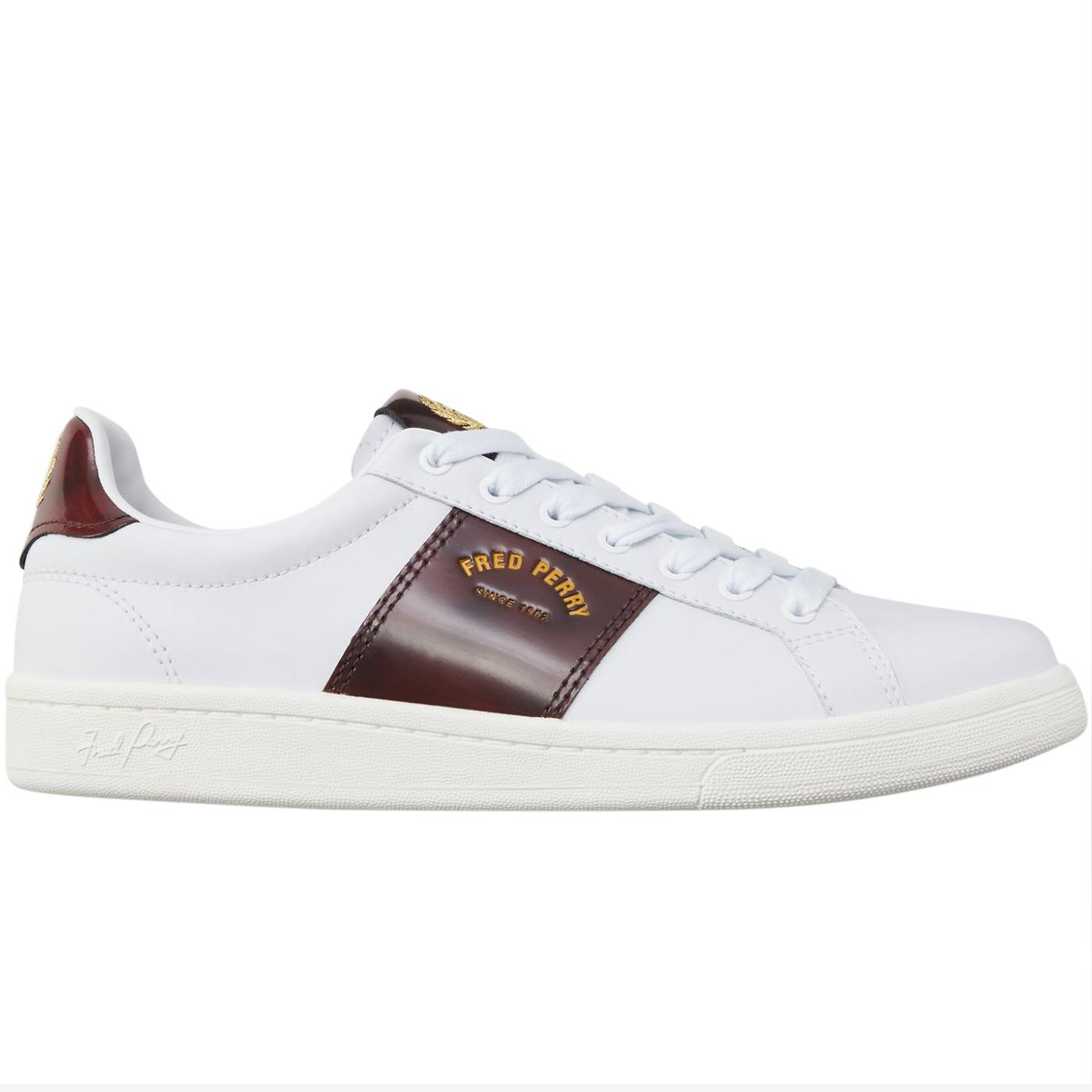 FRED PERRY B721 Arch Branded Retro Tennis Trainers