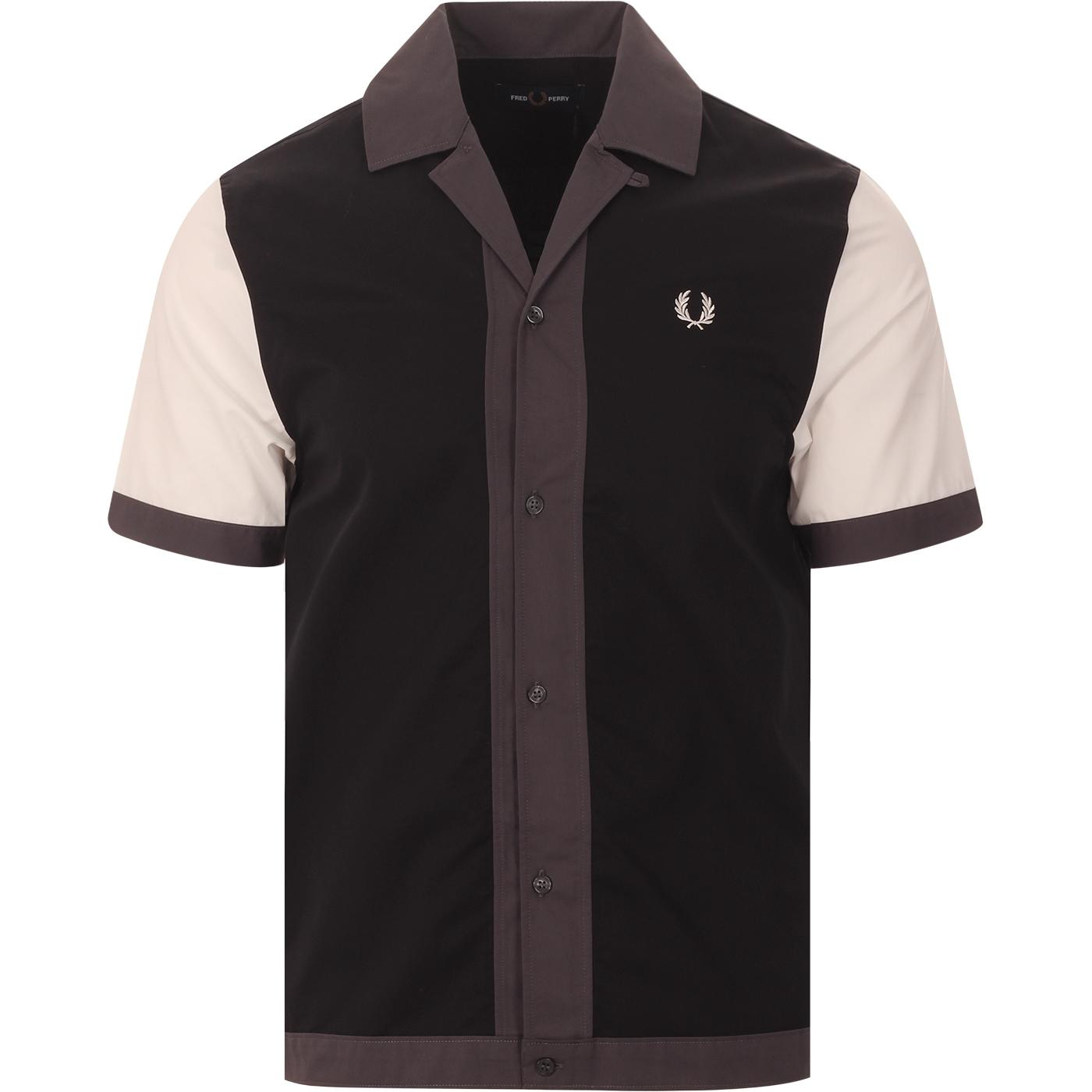 FRED PERRY Retro Colour Block Revere Collar Shirt