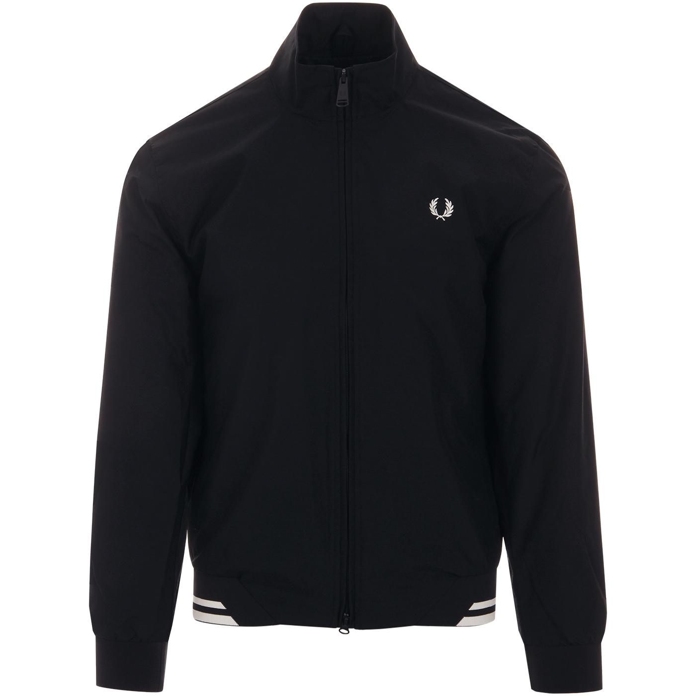 Brentham FRED PERRY Tipped Harrington Jacket NAVY