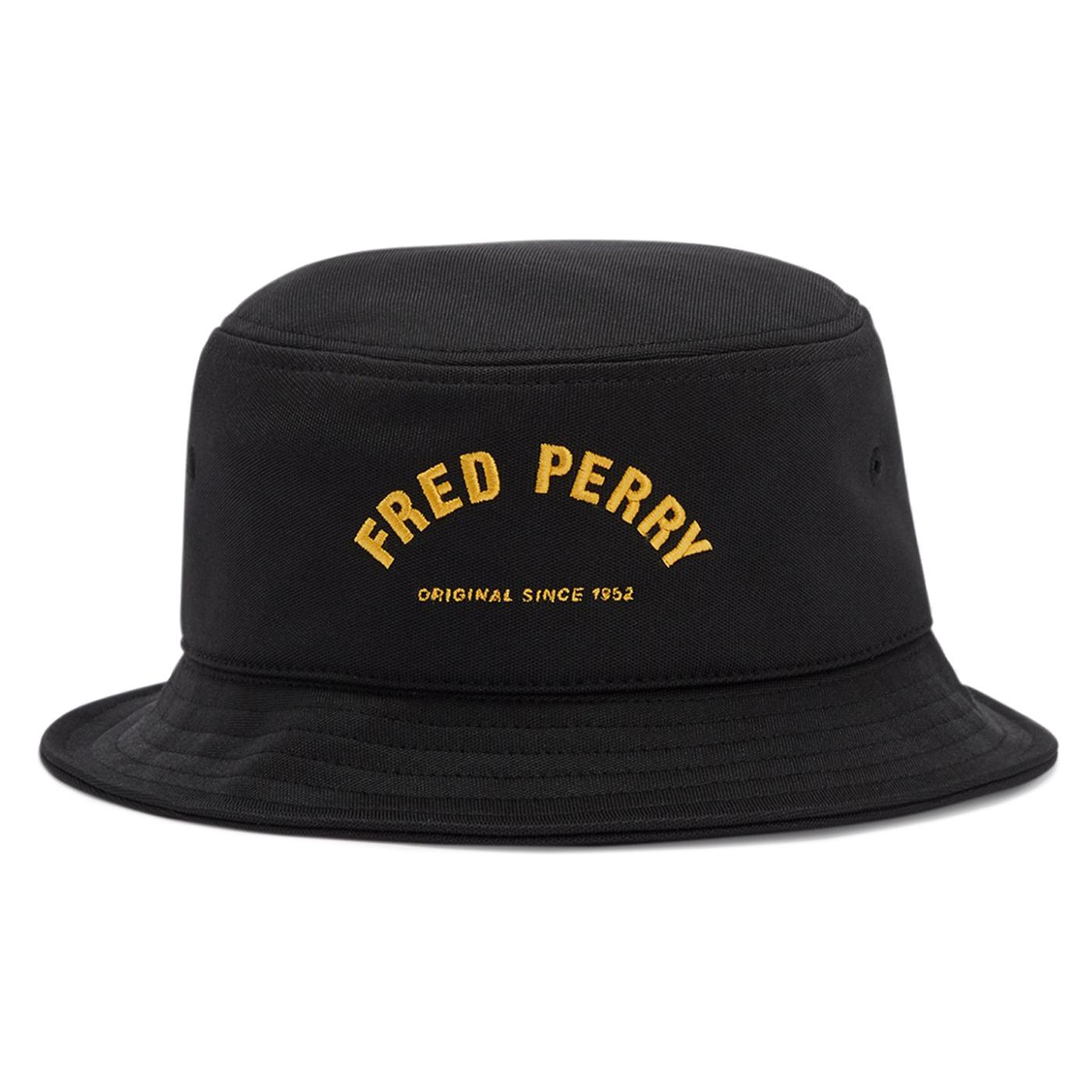 FRED PERRY Arch Branded Tricot Retro Bucket Hat B