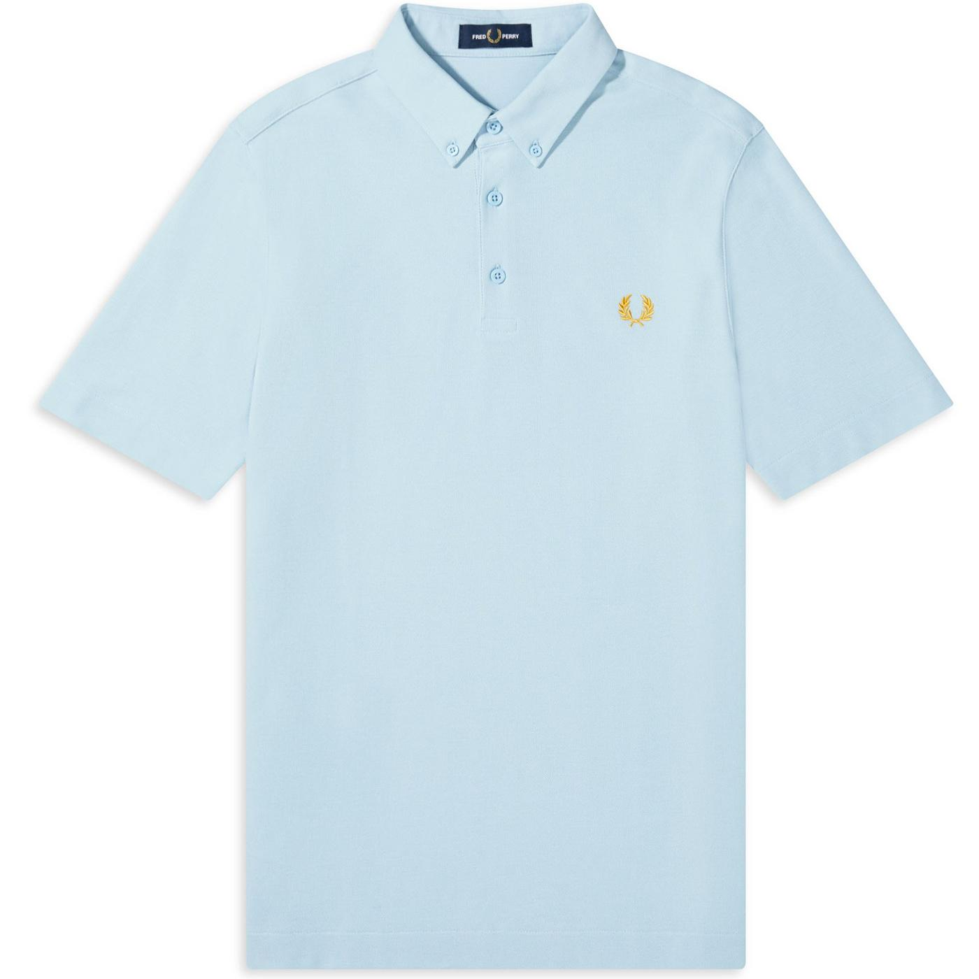 M8543 button down polo ice