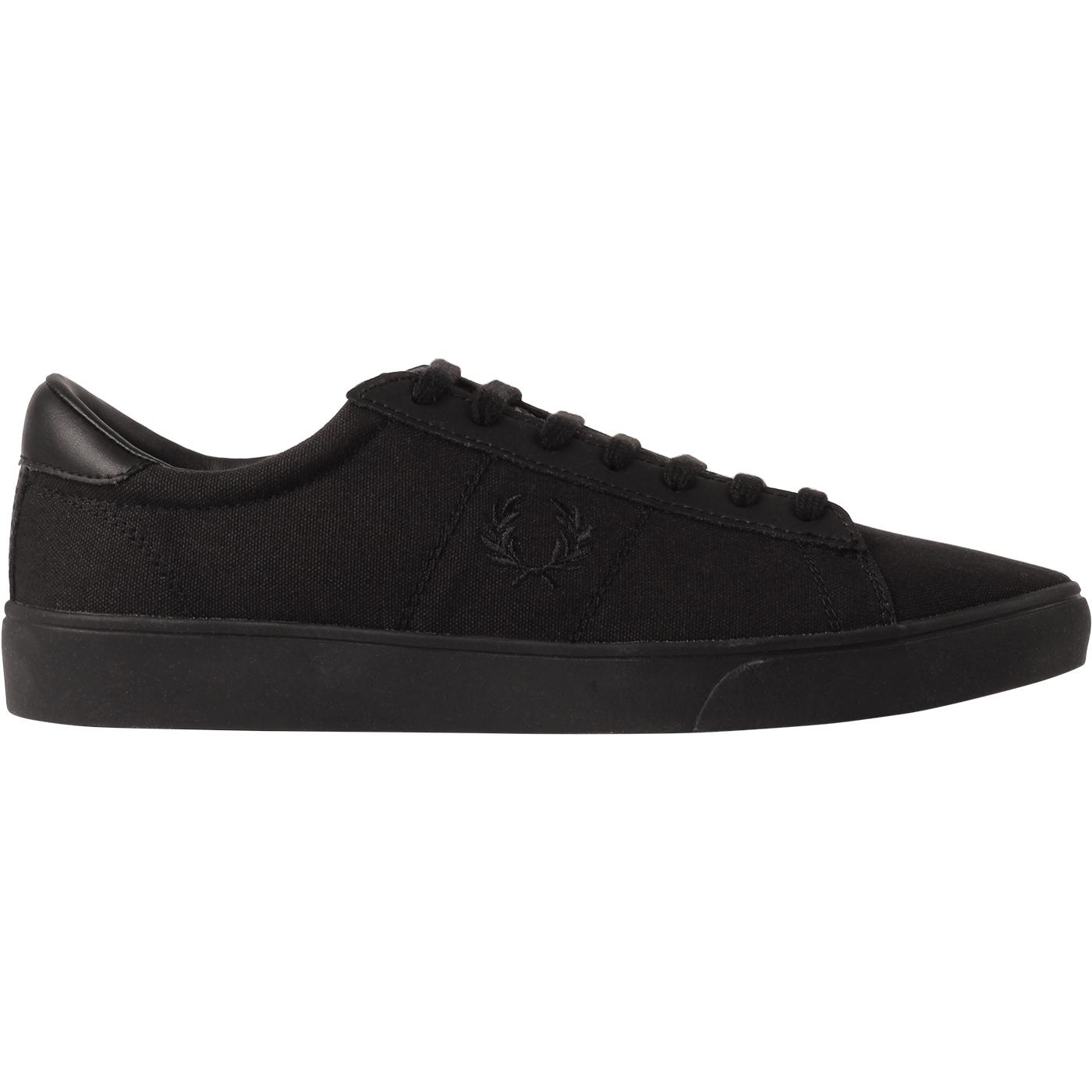 Spencer FRED PERRY Retro Canvas Court Trainers (B)