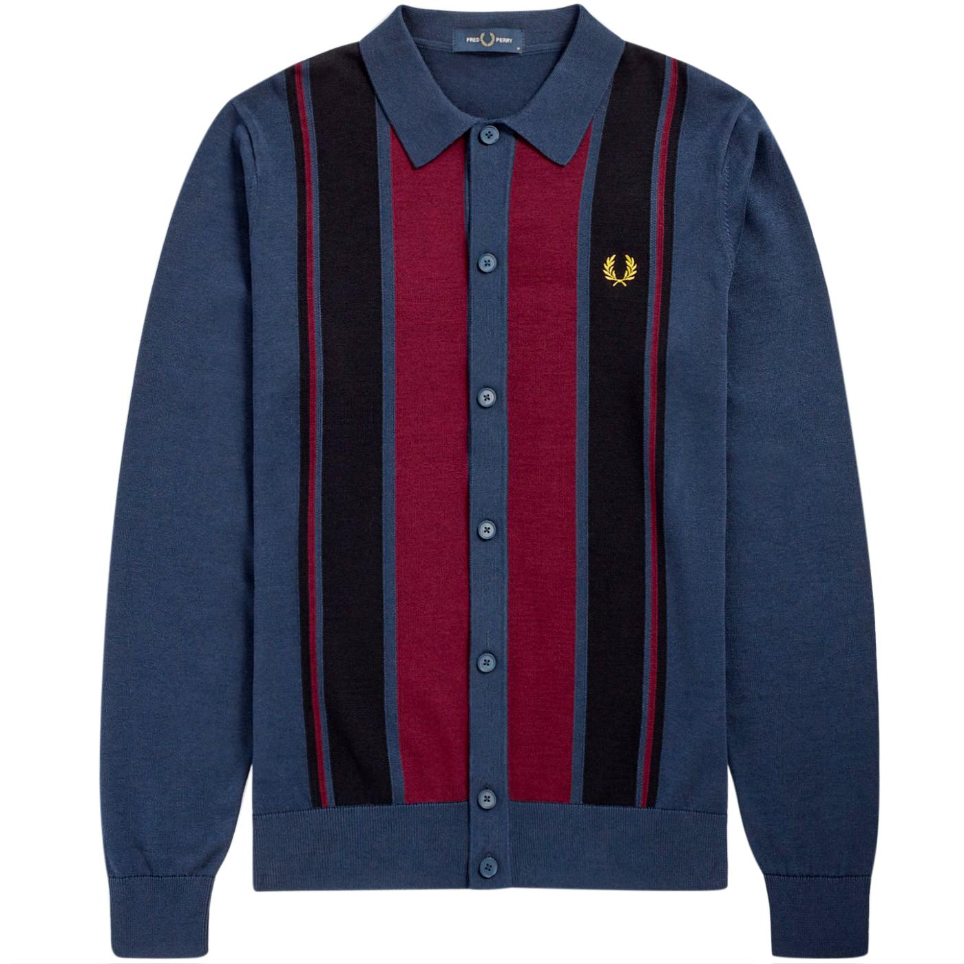 FRED PERRY K9545 60s Mod Colour Block Knitted Polo