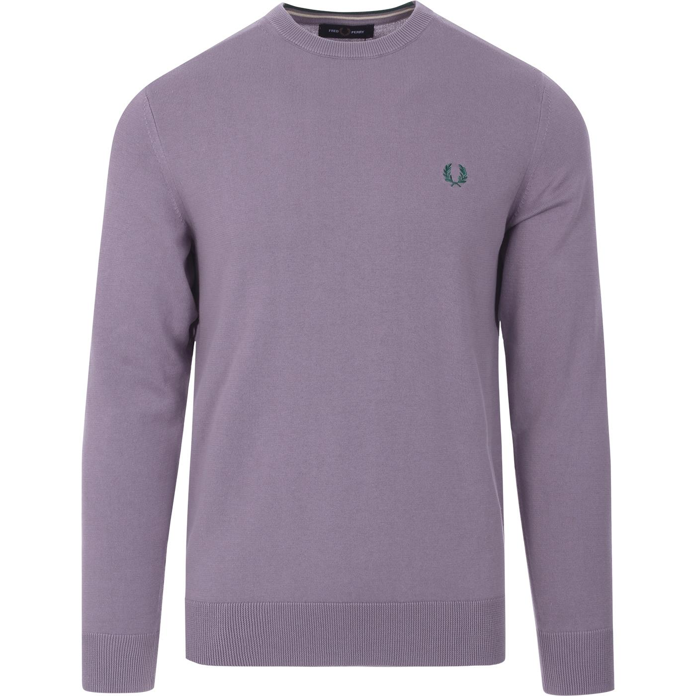 FRED PERRY Mod Crew Neck Jumper (Lavender Ash)