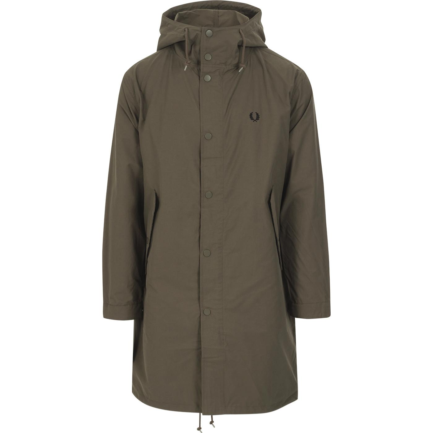 FRED PERRY 60s Mod Fishtail Parka (Military Brown)