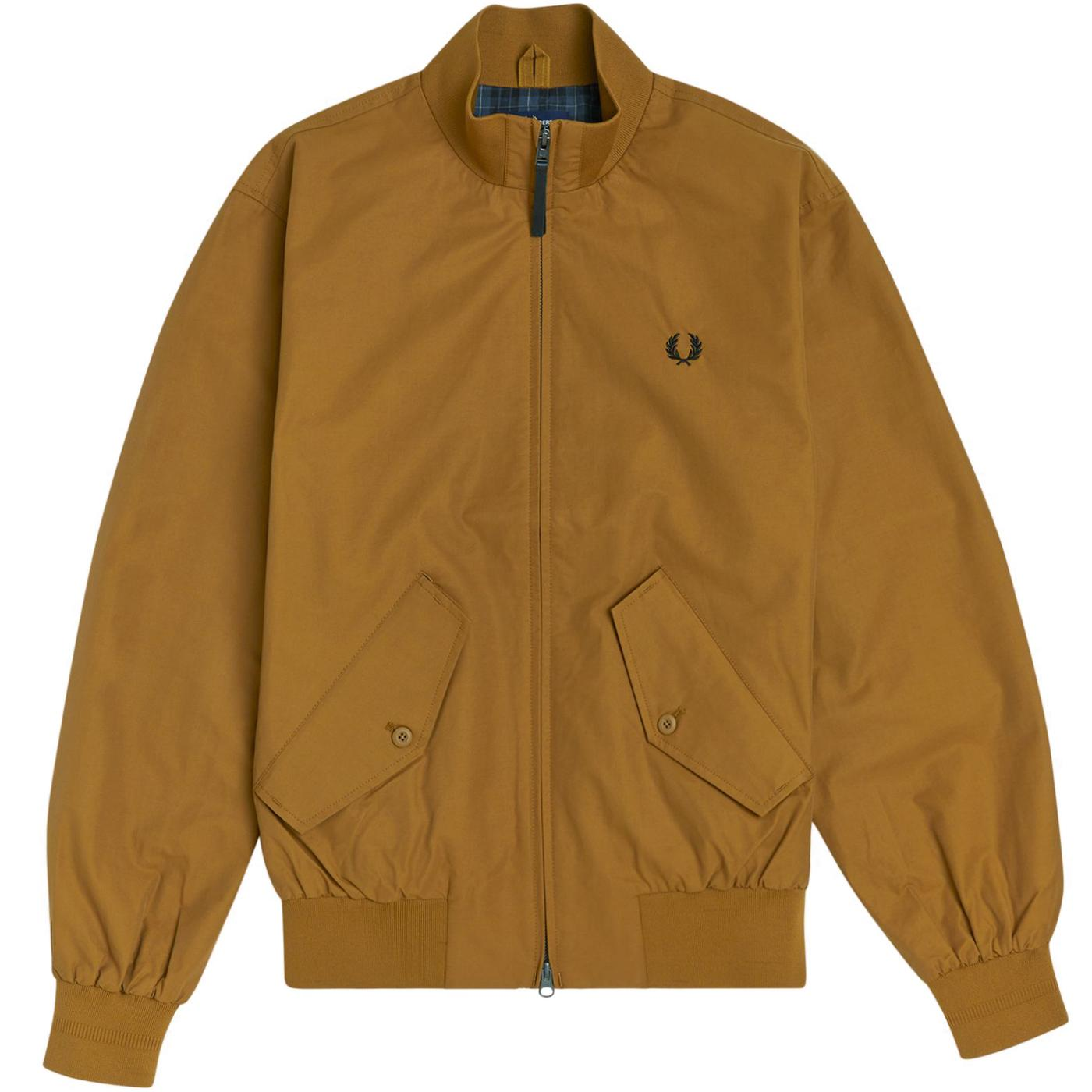 FRED PERRY Mod Check Lined Zip Harrington (DC)