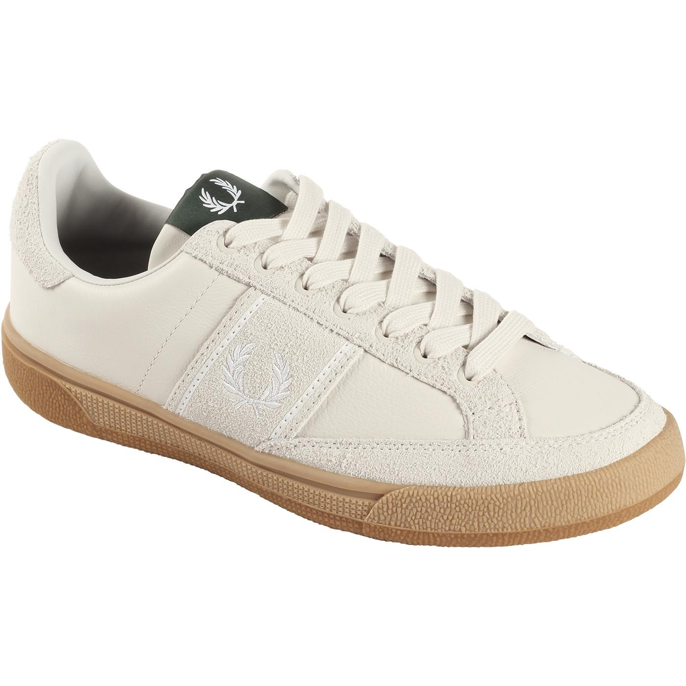 FRED PERRY B3 Leather/Suede Retro Tennis Trainers