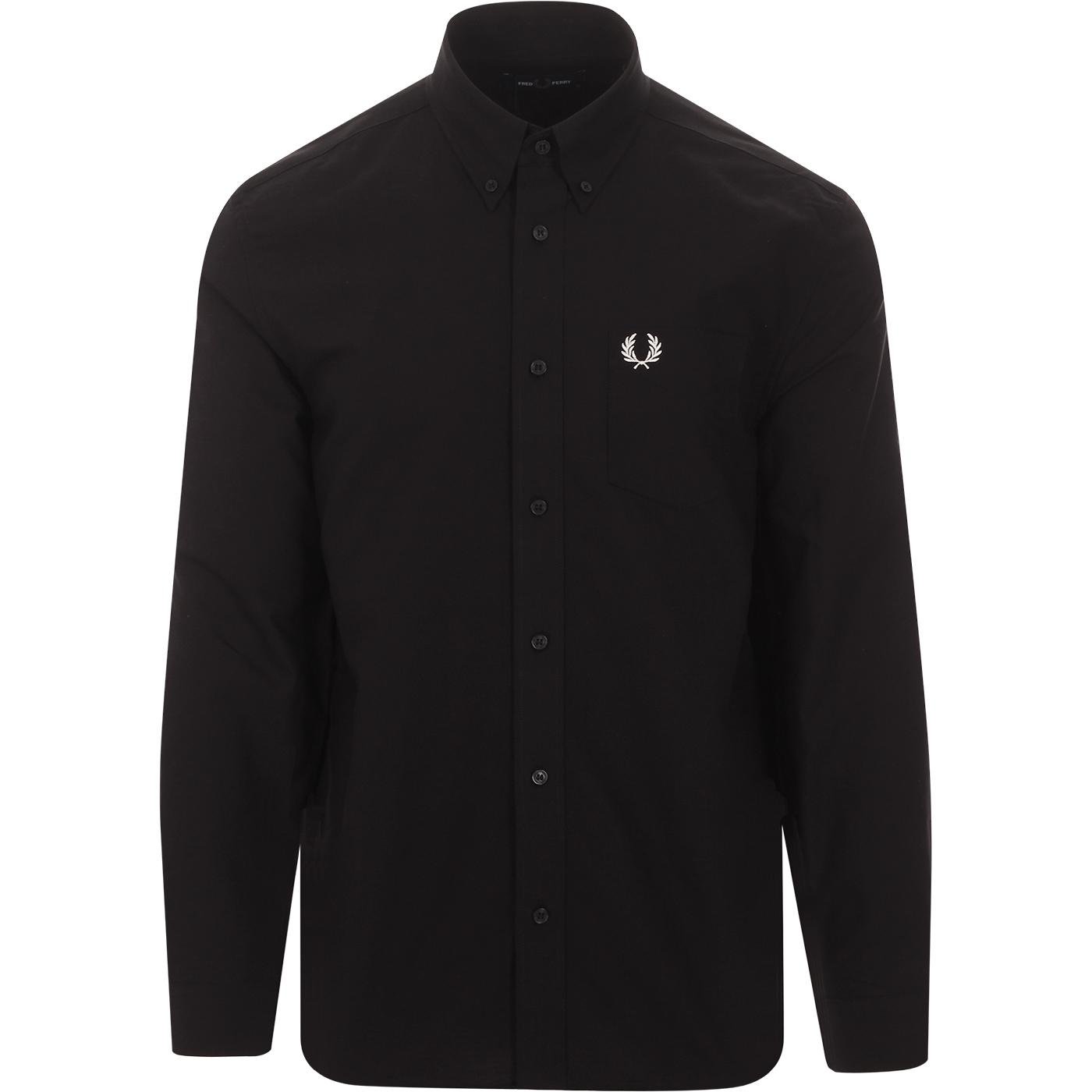 FRED PERRY Mod Button Down Oxford Shirt (Black)