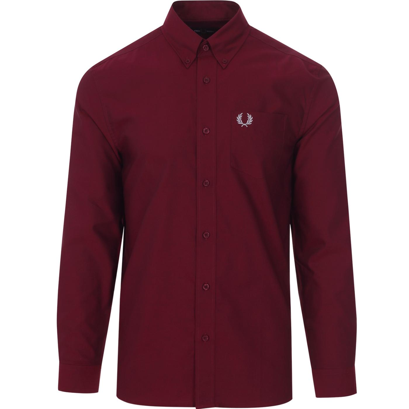 FRED PERRY Retro Mod Button Down Oxford Shirt (P)