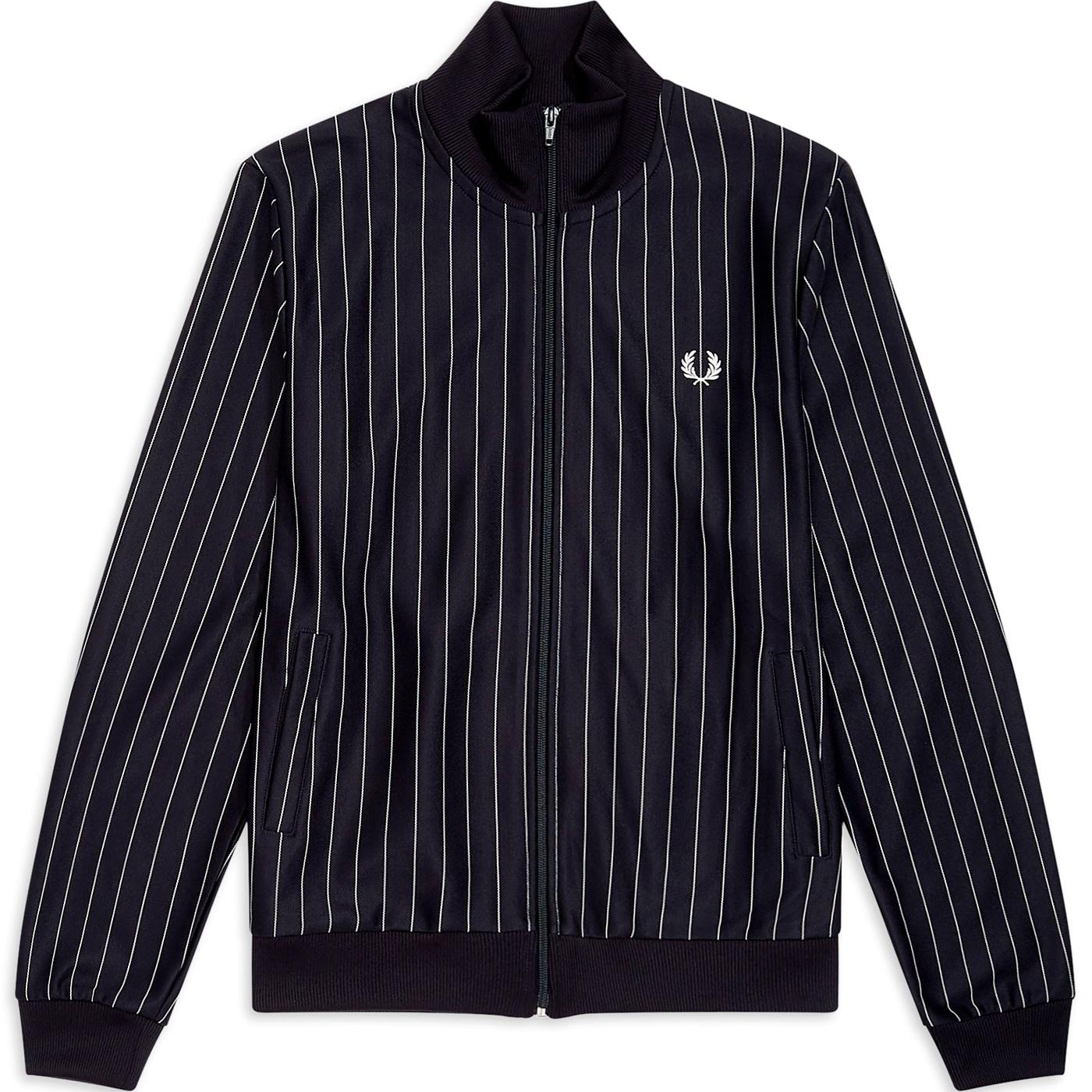 FRED PERRY Men's Retro 90s Pinstripe Track Jacket