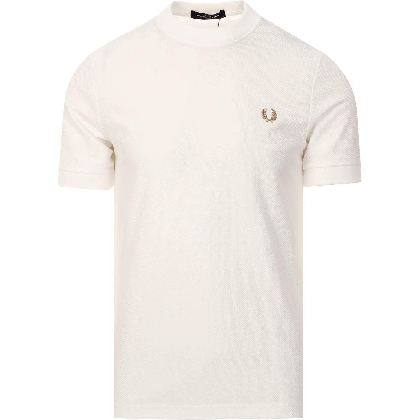 FRED PERRY Mod Raised Crew Waffle Pique Tee SW