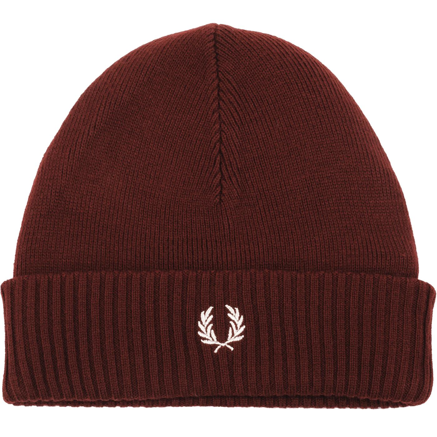 FRED PERRY Retro Roll Up Beanie Hat (Stadium Red)