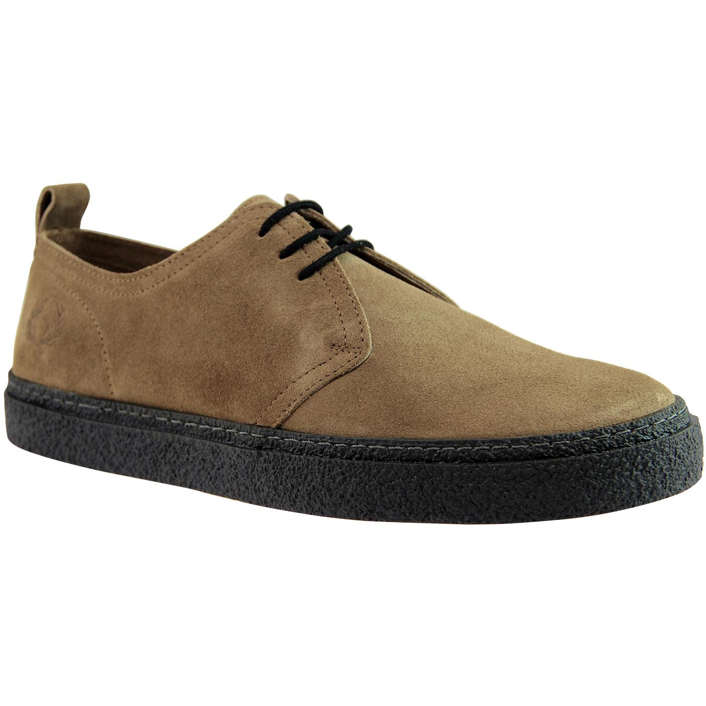 Linden FRED PERRY Retro Mod Suede Shoes - Almond
