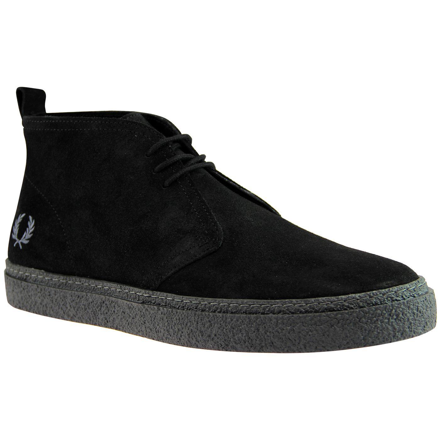 Hawley FRED PERRY Retro Mod Desert Boots - Black