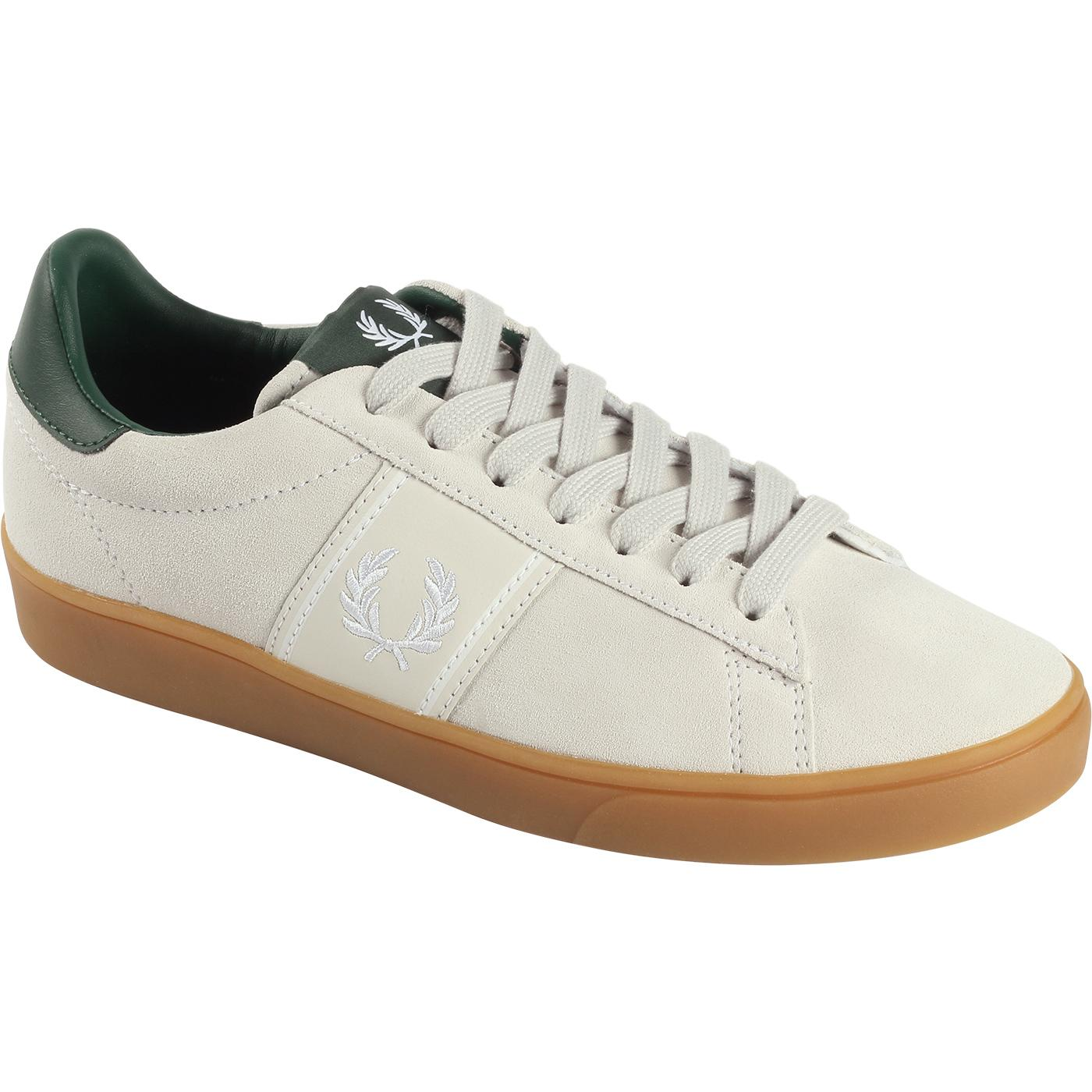 Spencer FRED PERRY Retro 70s Suede Court Trainers
