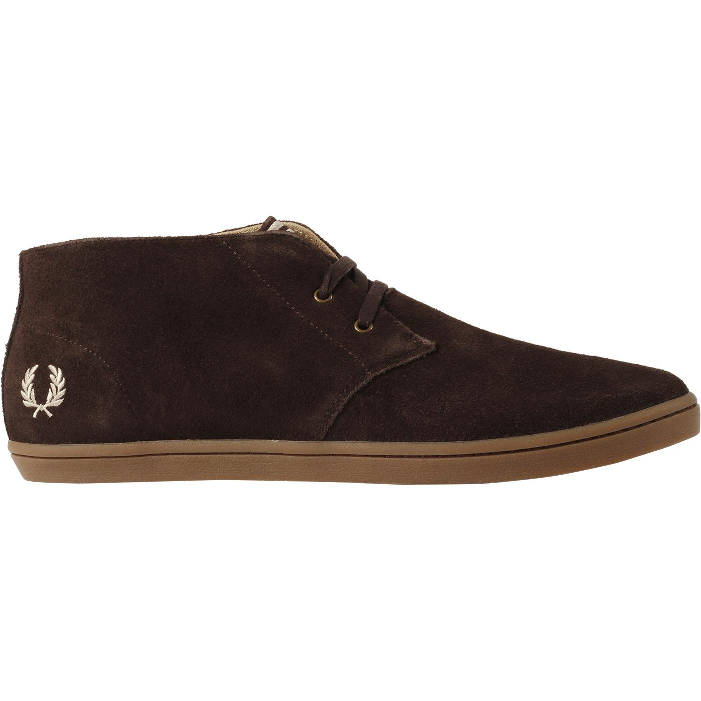 Byron FRED PERRY Mod Mid Suede Desert Boots (DB)