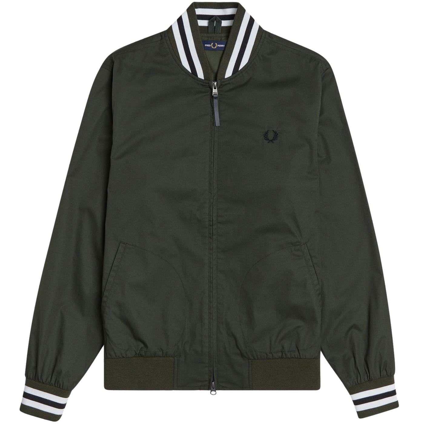 FERD PERRY Mod Tennis Bomber Jacket (Green)
