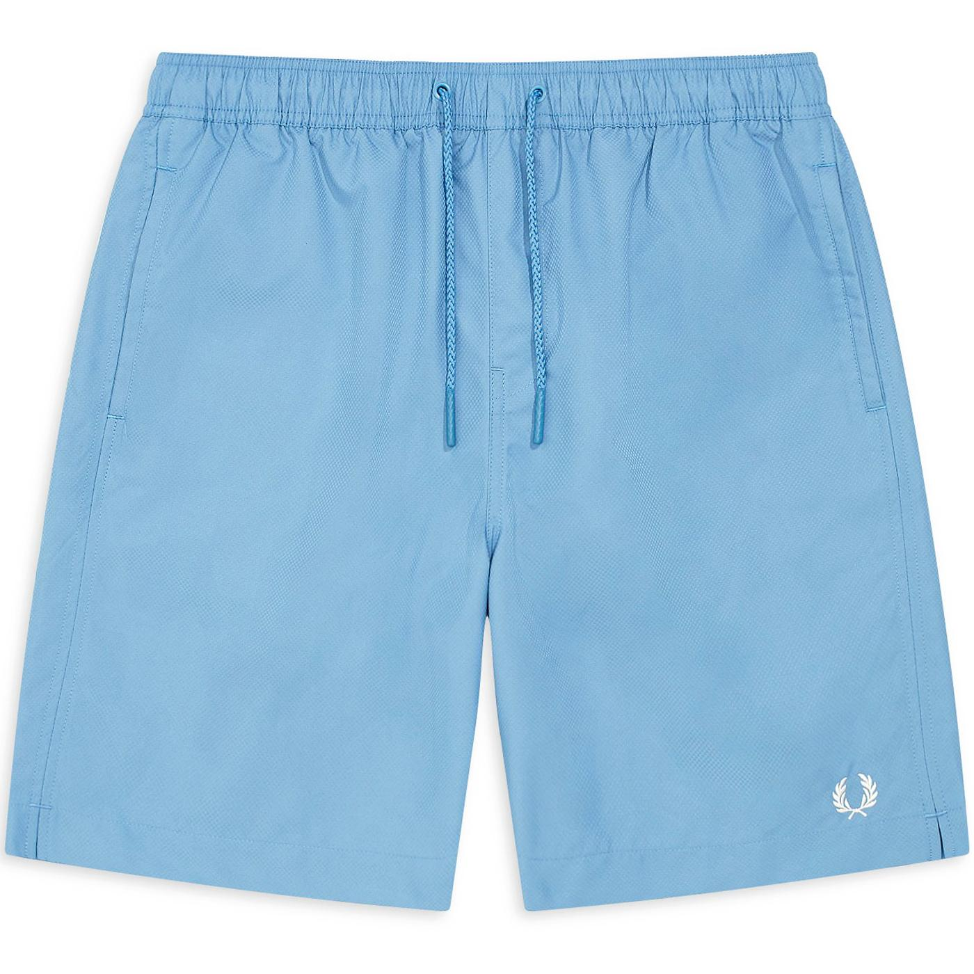 FRED PERRY Retro Textured Swim Shorts (Riviera)