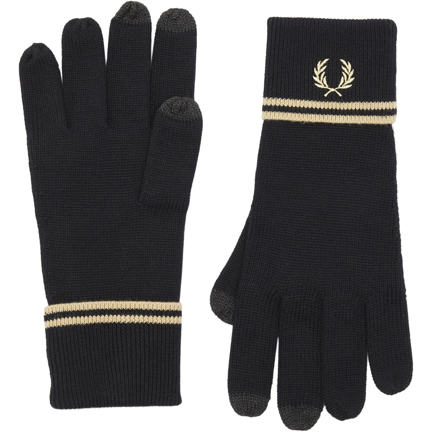 FRED PERRY Retro Twin Tipped Merino Wool Gloves