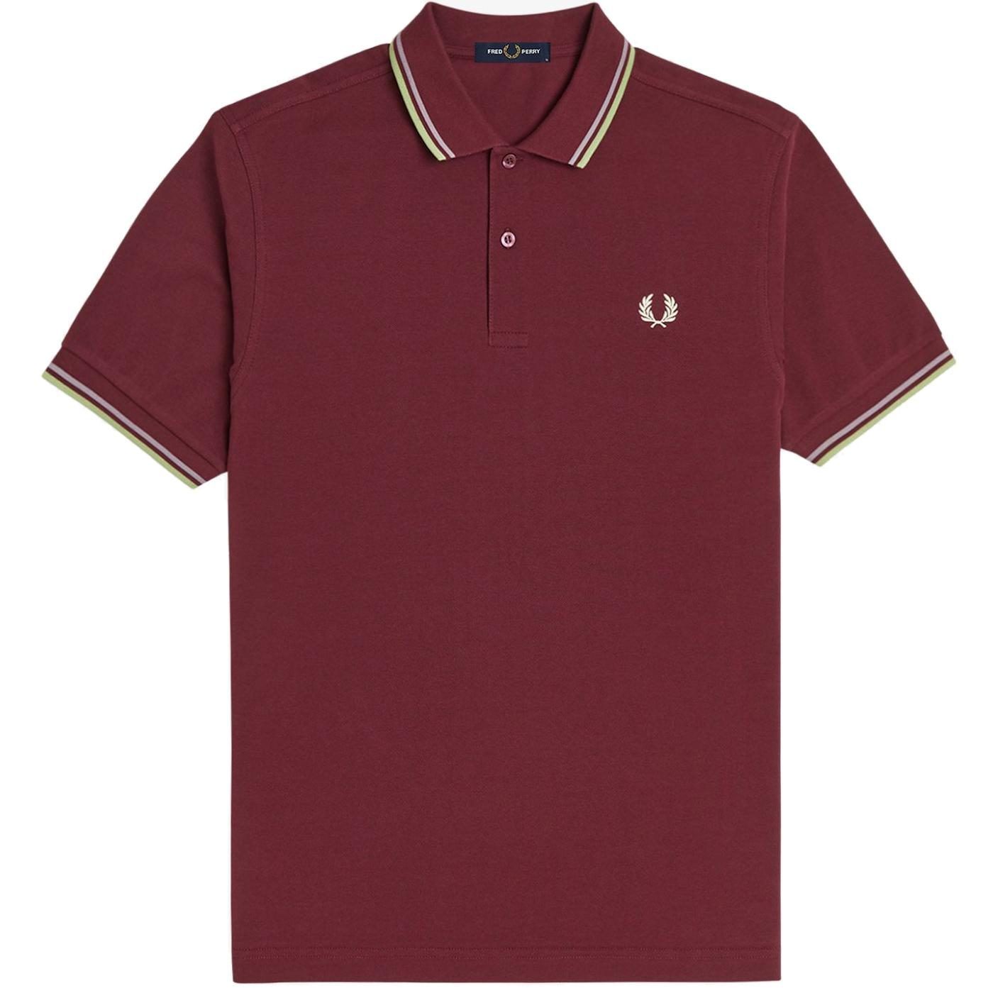 FRED PERRY M3600 Mens Twin Tipped Pique Polo A/R/W