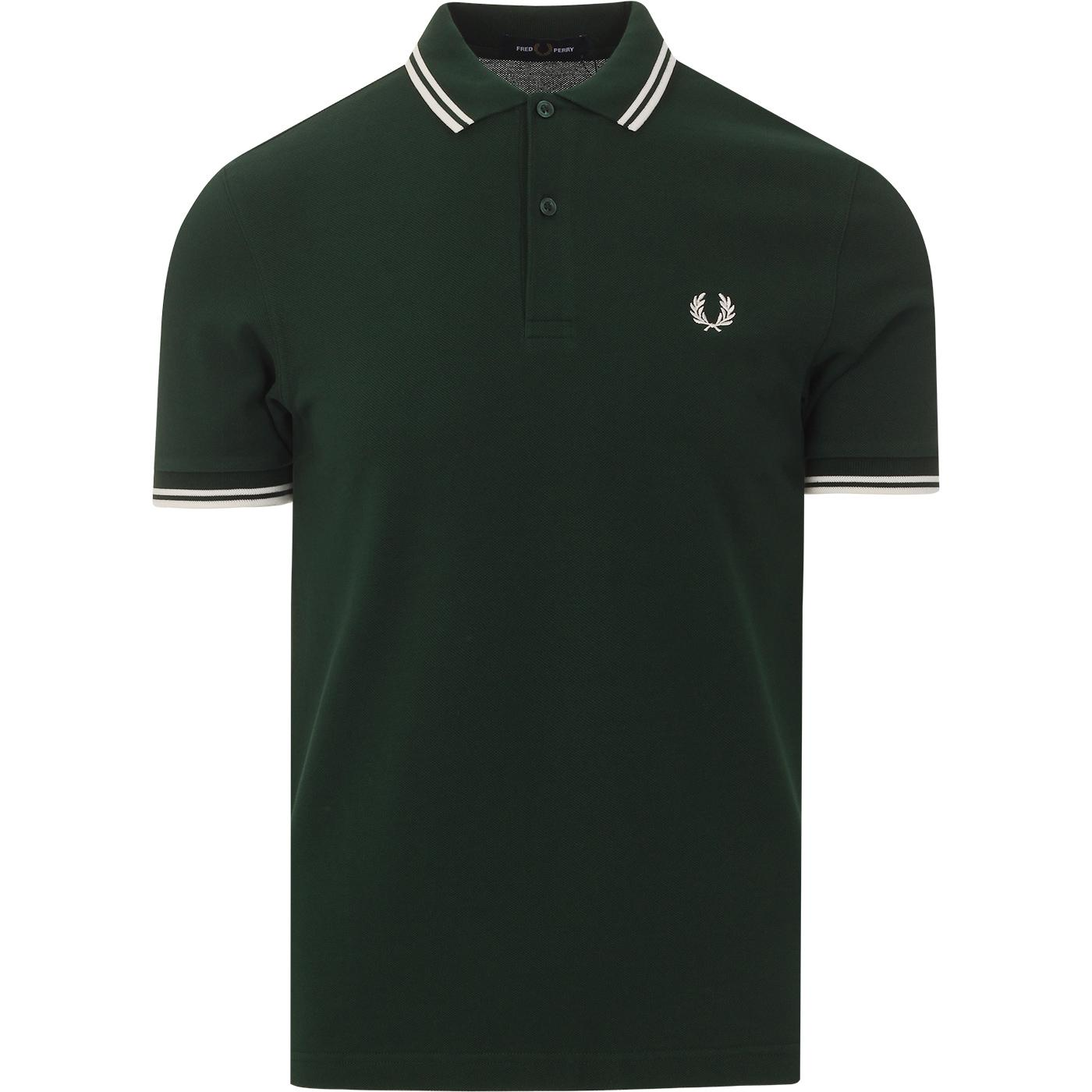 FRED PERRY M3600 Mens Twin Tipped Pique Polo (I/E)
