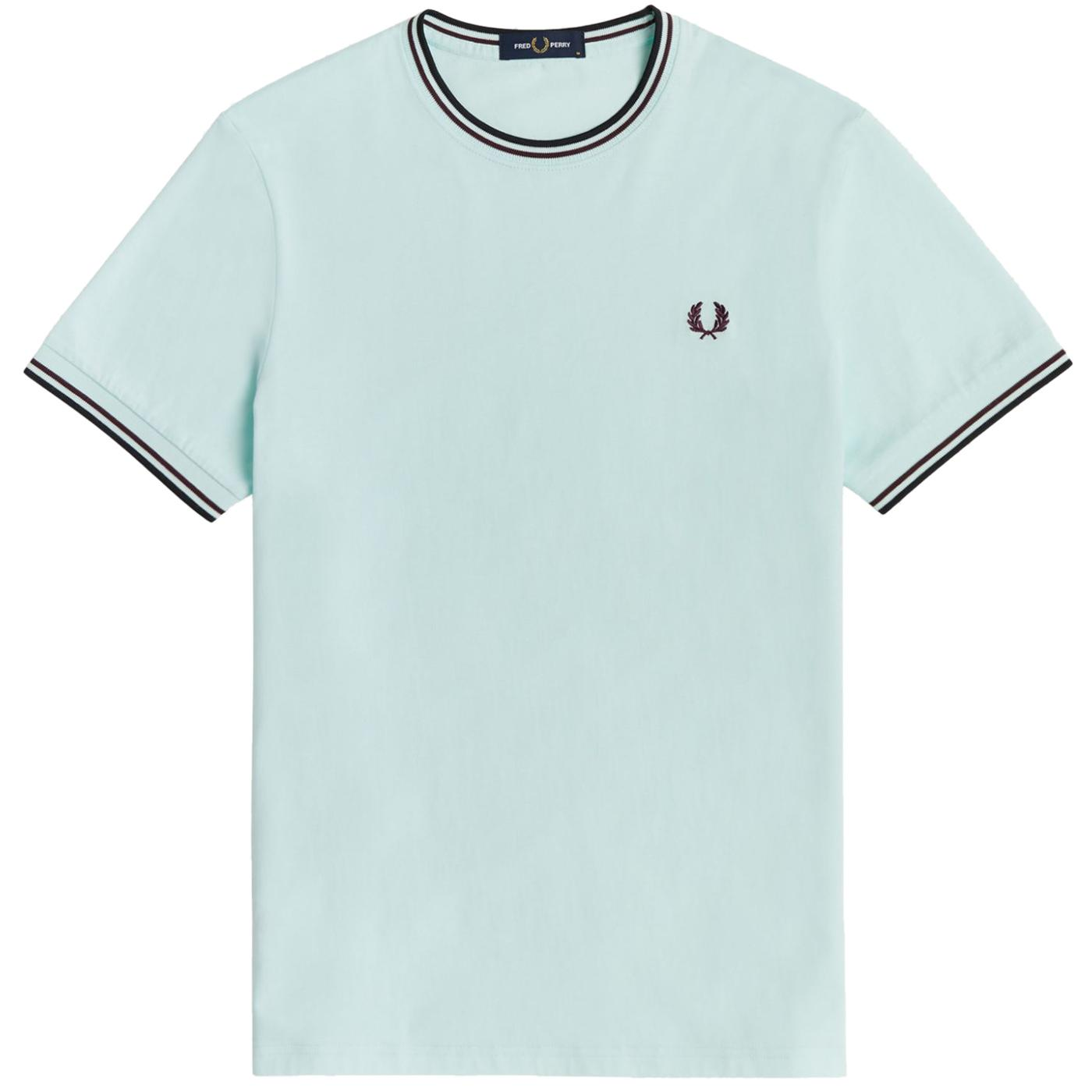 FRED PERRY M1588 Twin Tipped Tee (Brighton Blue)