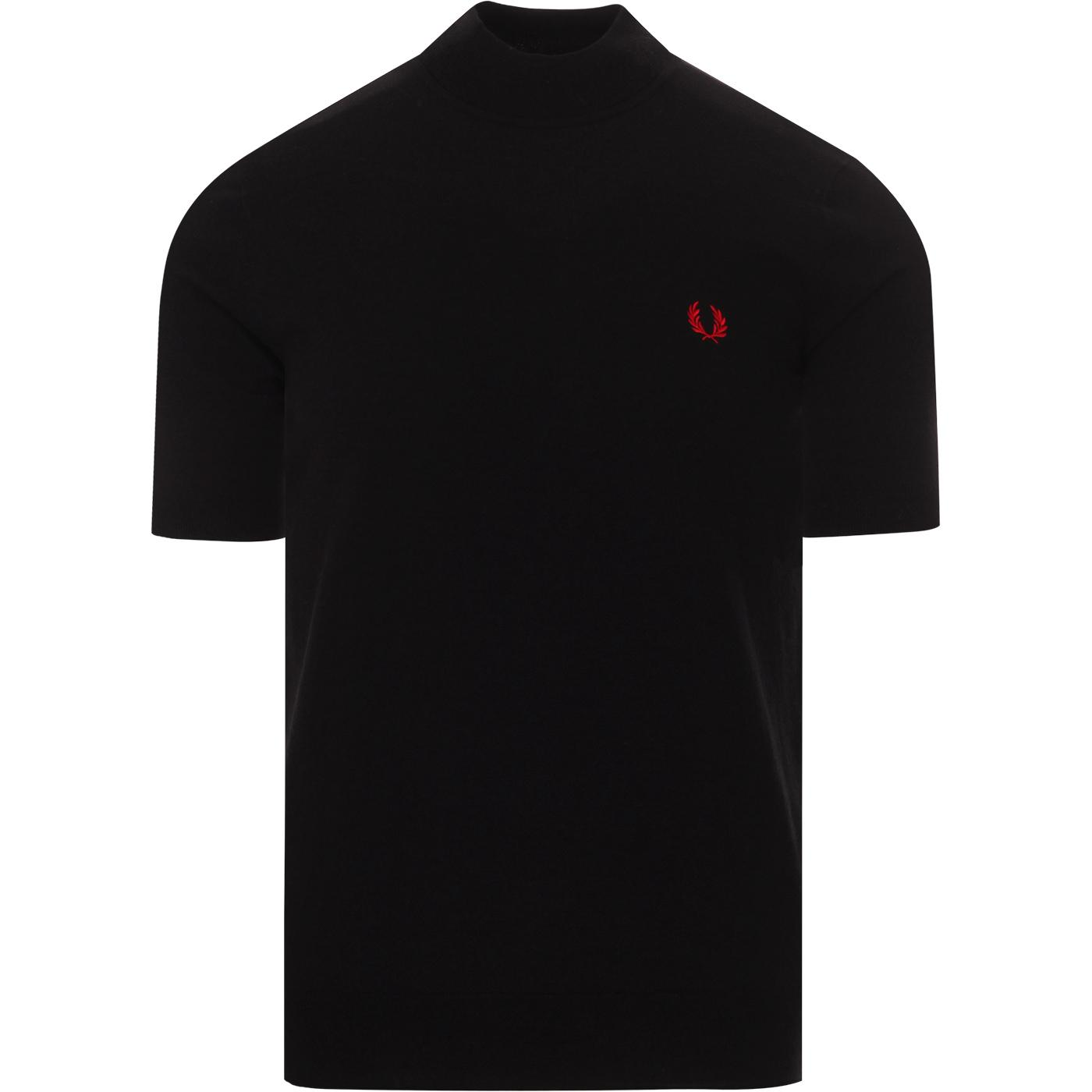 FRED PERRY K8519 Mod Knitted Turtle Neck Tee BLACK