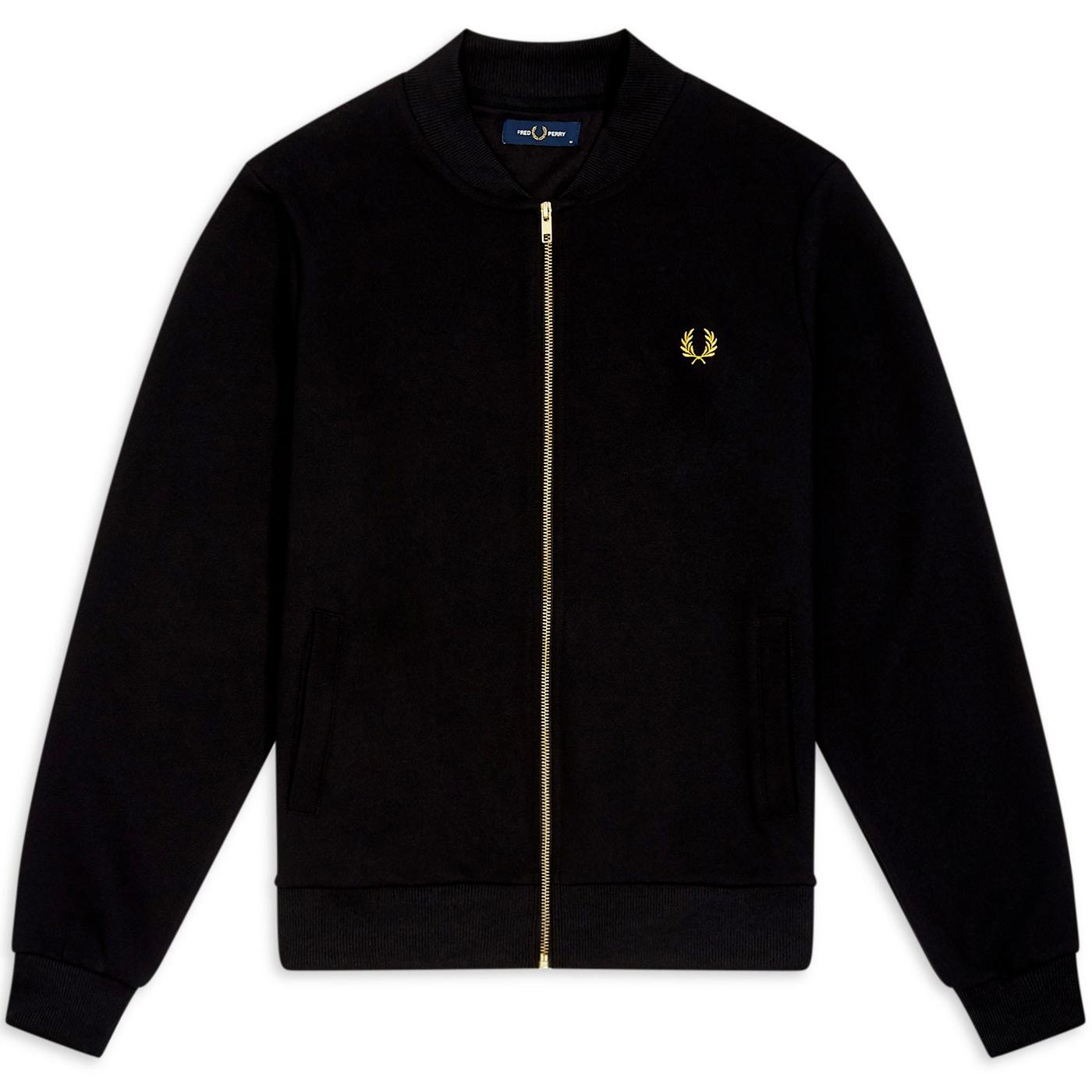 FRED PERRY Bomber Collar Twill Track Jacket (B)