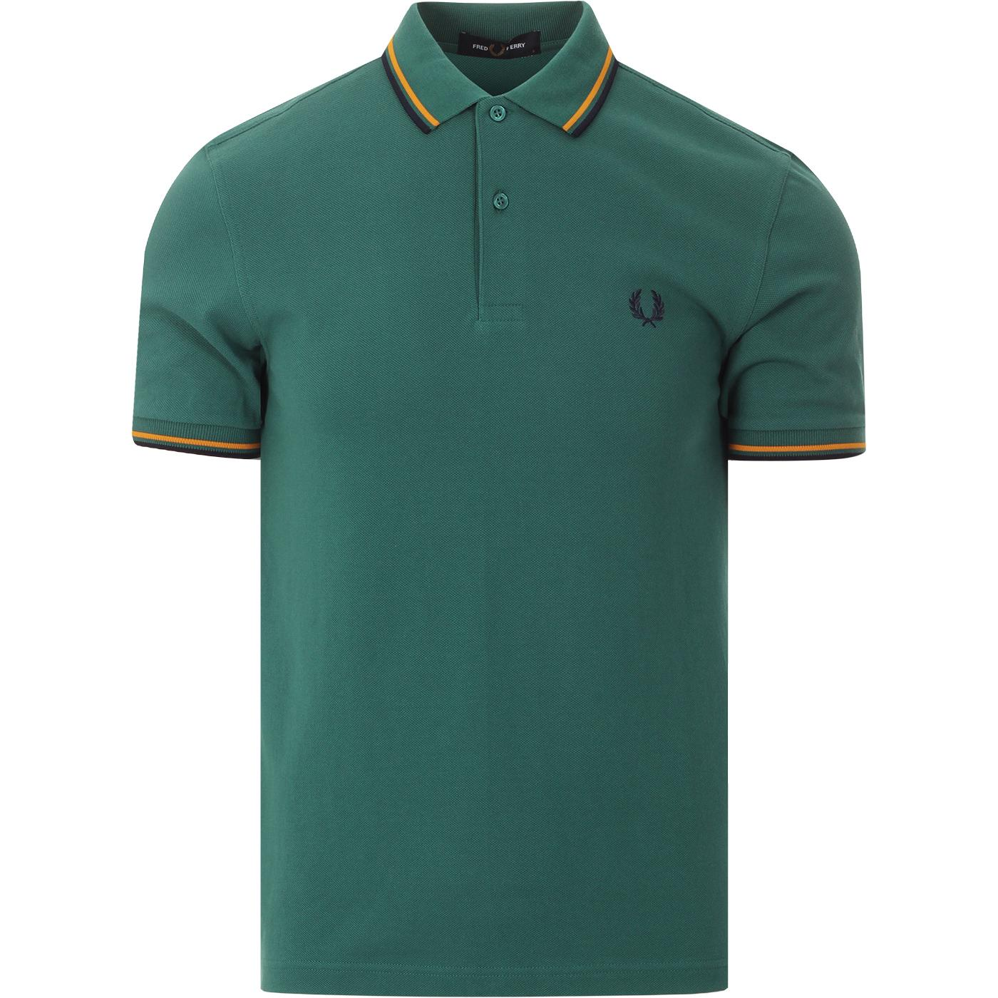 FRED PERRY M3600 Twin Tipped Mod Polo Shirt (BG)
