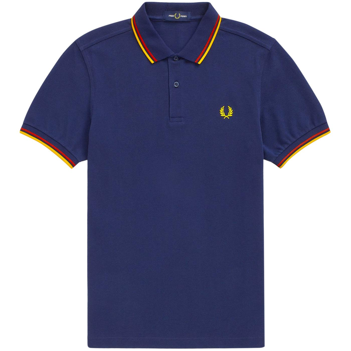FRED PERRY M3600 Mens Twin Tipped Pique Polo (DC)