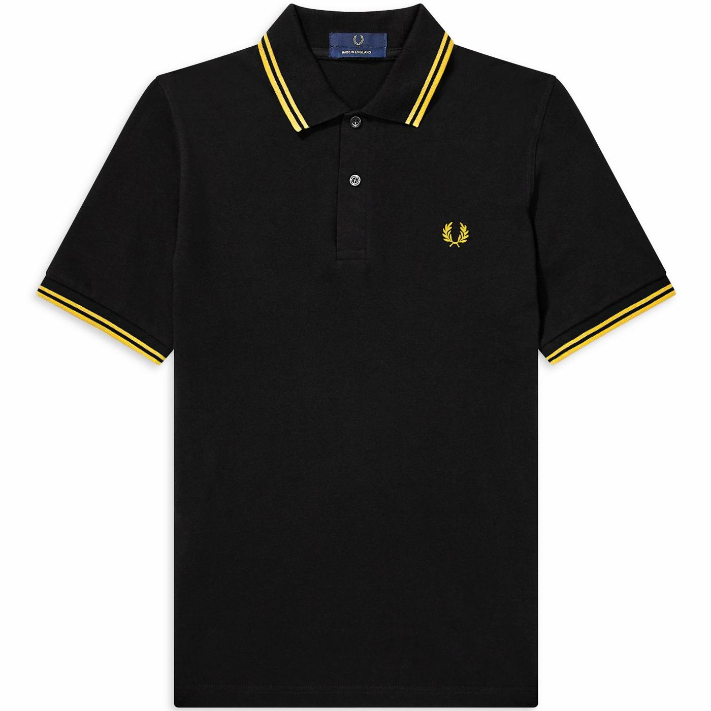 FRED PERRY M3600 Mod Twin Tipped Polo Shirt (B/Y)