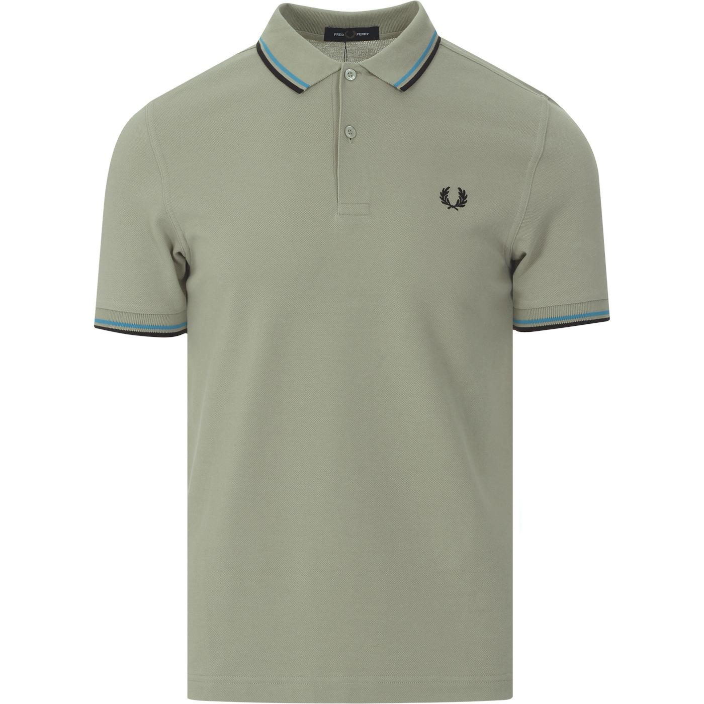 FRED PERRY M3600 Mod Twin Tipped Polo Shirt (Sage)