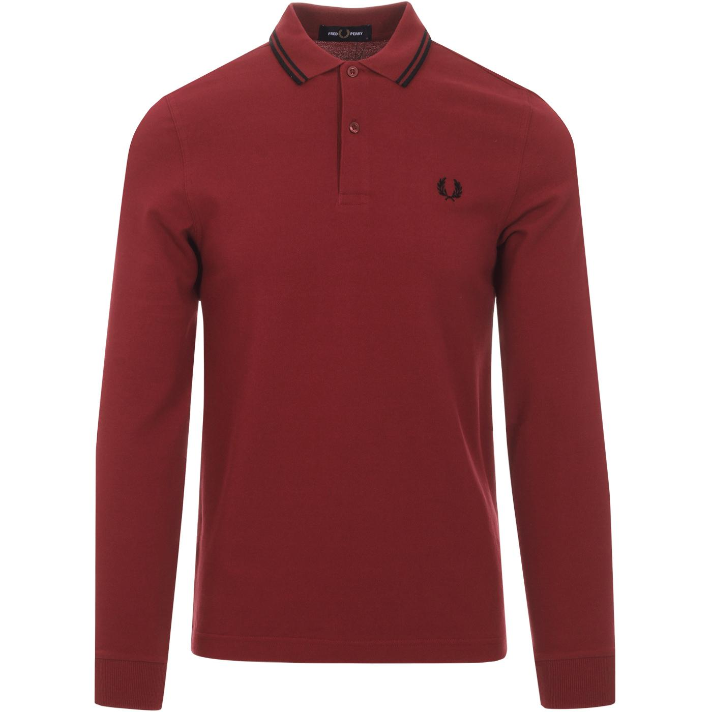 FRED PERRY Mod Twin Tipped Long Sleeve Polo (DR)