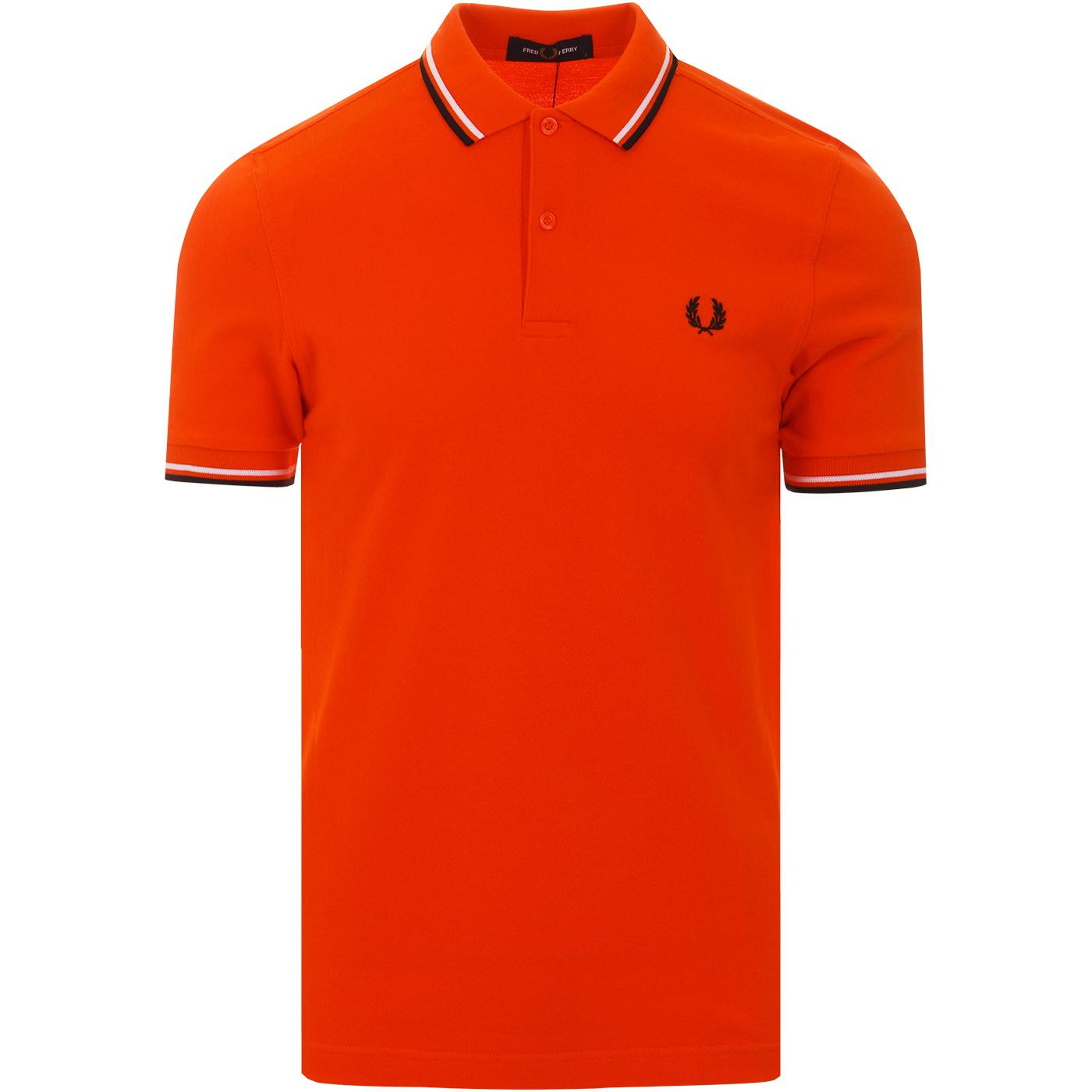 FRED PERRY M3600 Mod Twin Tipped Polo (Int Orange)