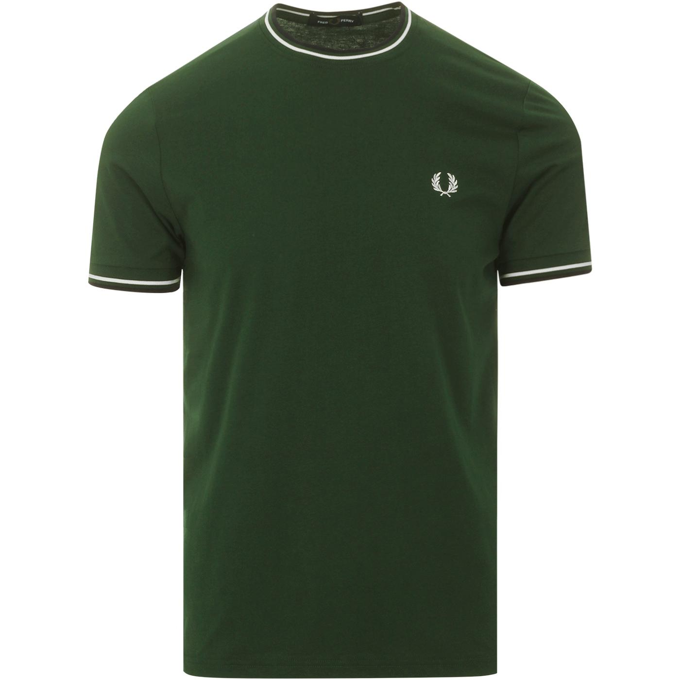 FRED PERRY M1588 Retro Mod Twin Tipped T-Shirt IVY