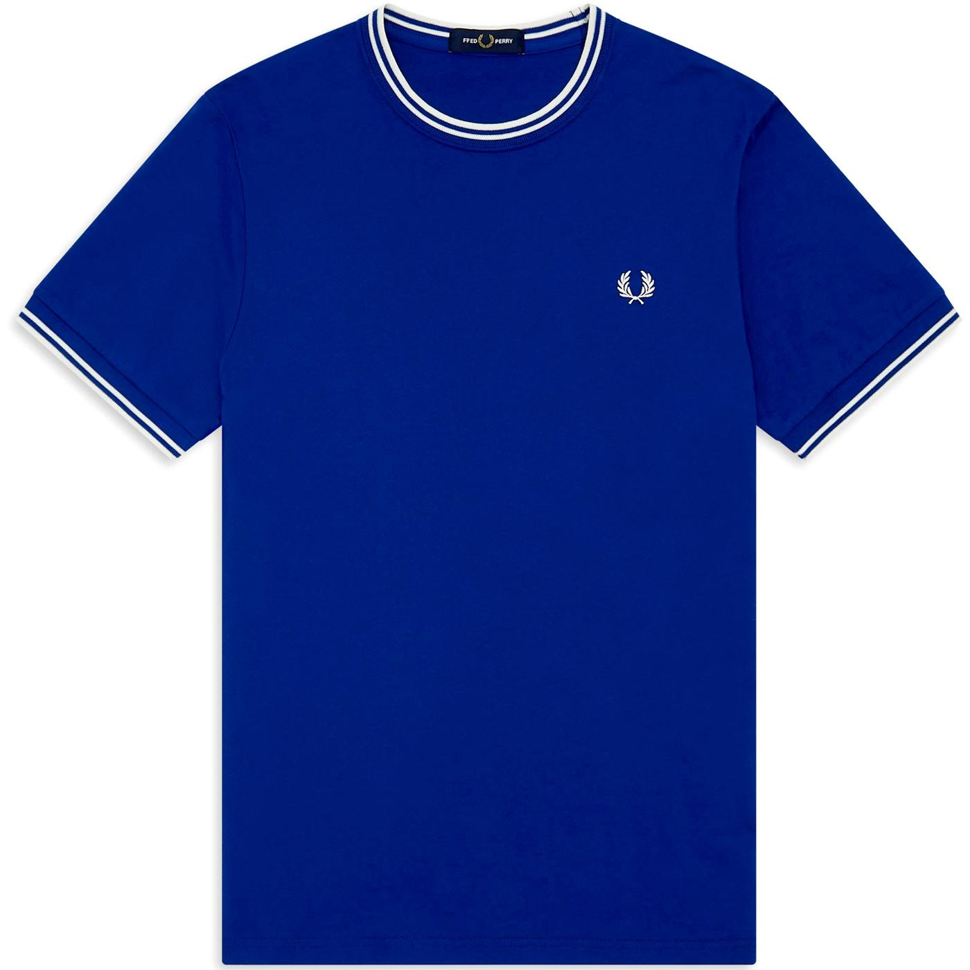 FRED PERRY M1588 Mod Twin Tipped T-Shirt - Cobalt