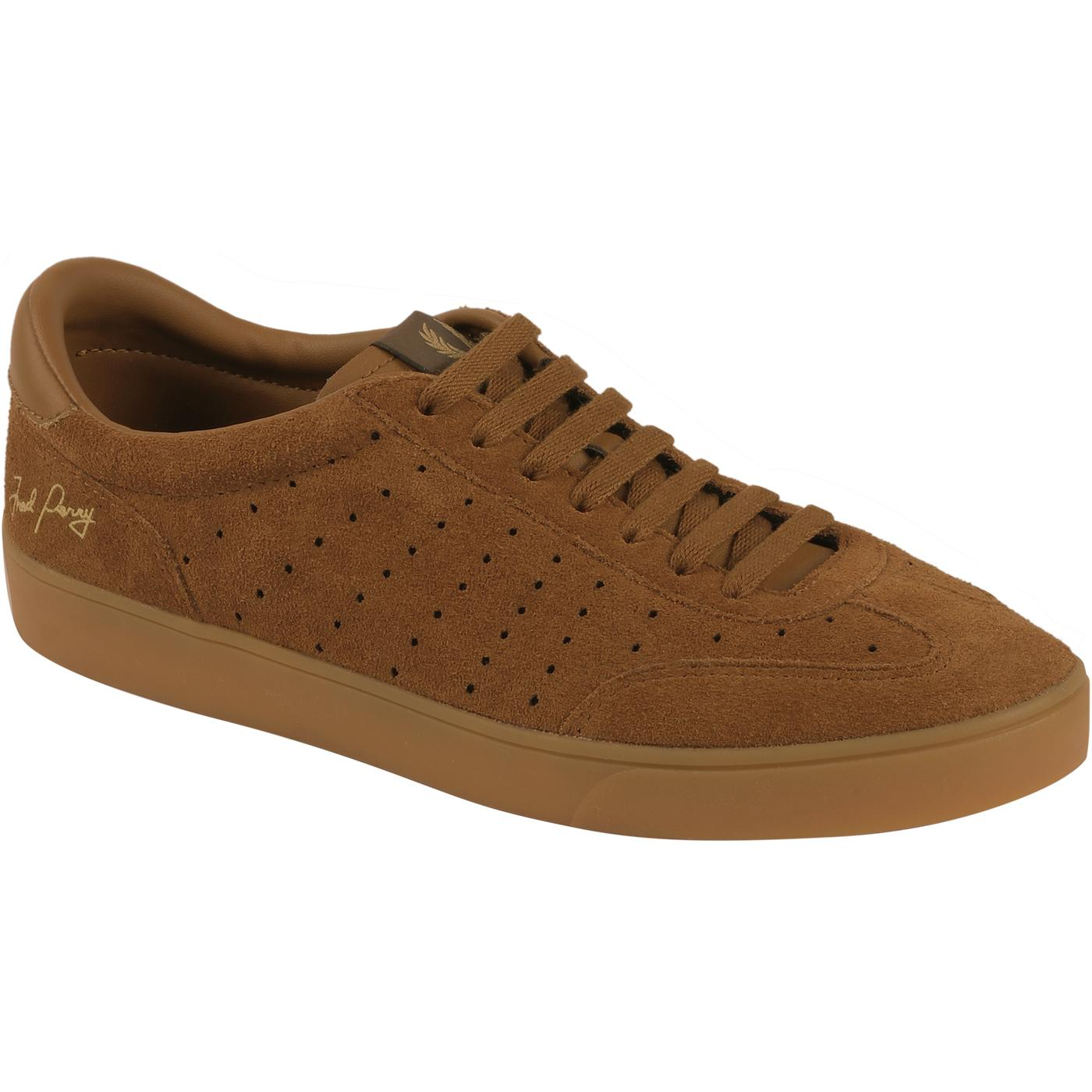 Umpire FRED PERRY Retro Suede Trainers in Ginger